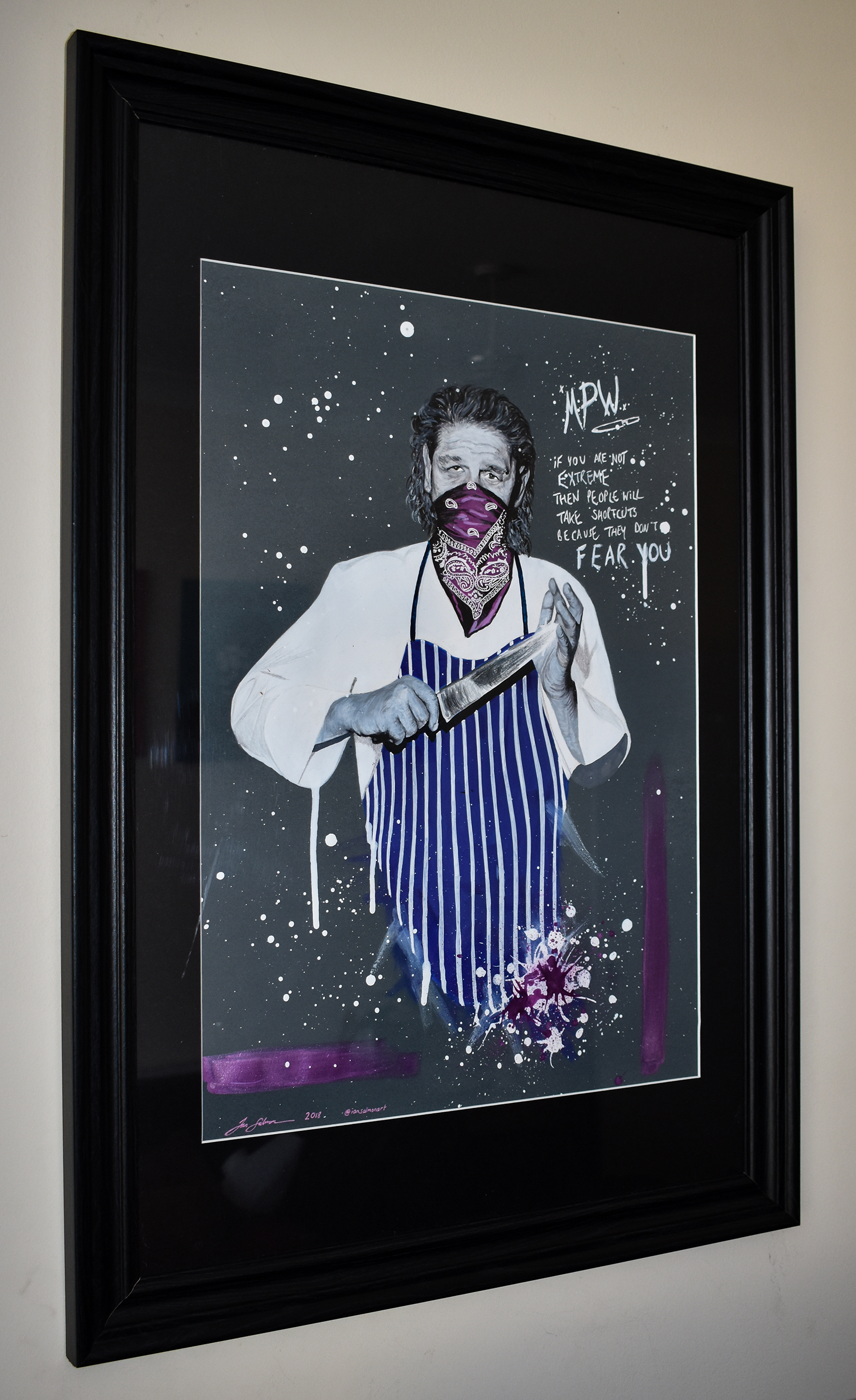 Marco Pierre White pop art portrait 18 framed.jpg