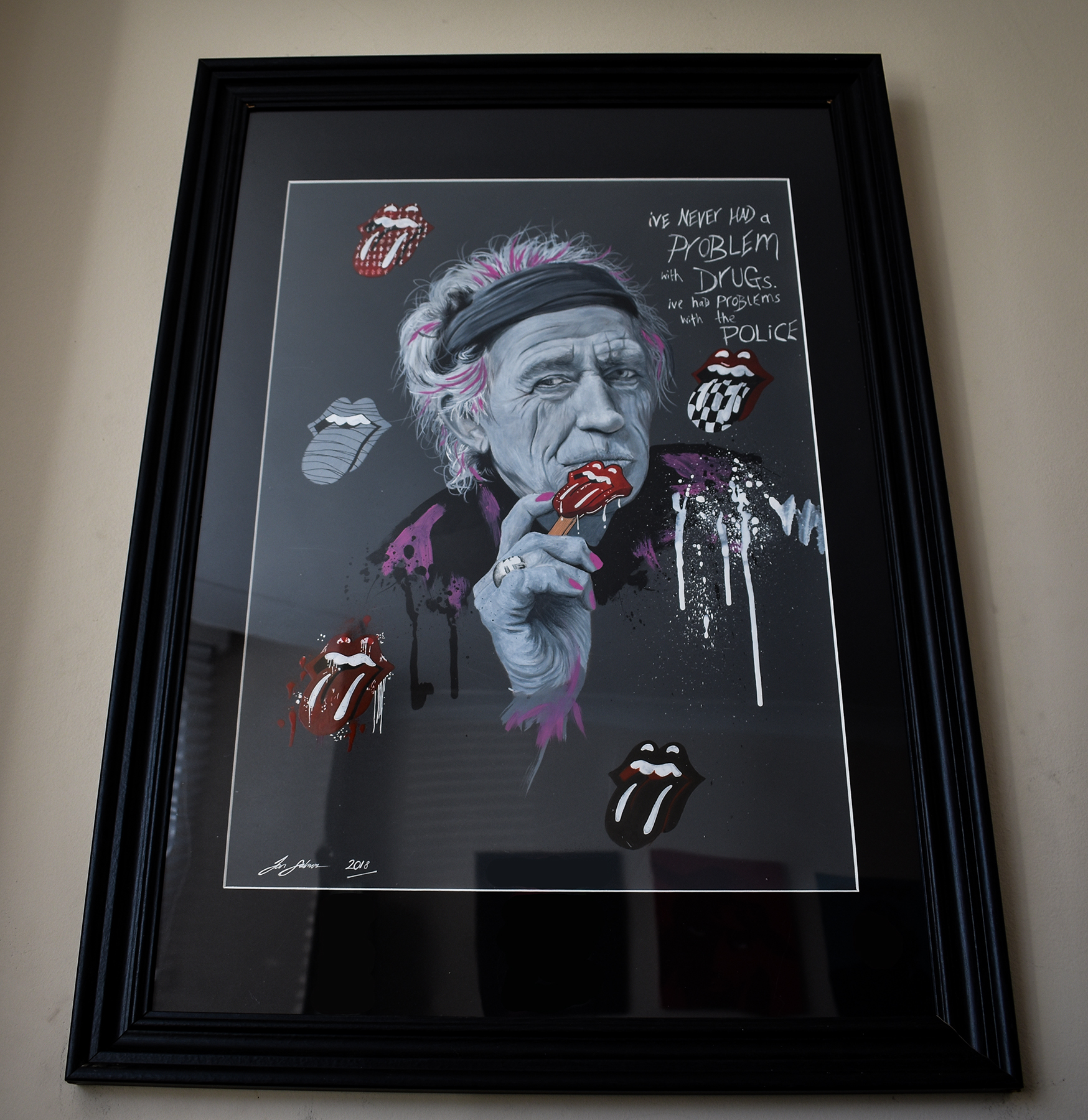 Keith Richards Pop Art Portrait - Ian Salmon Art 3.jpg