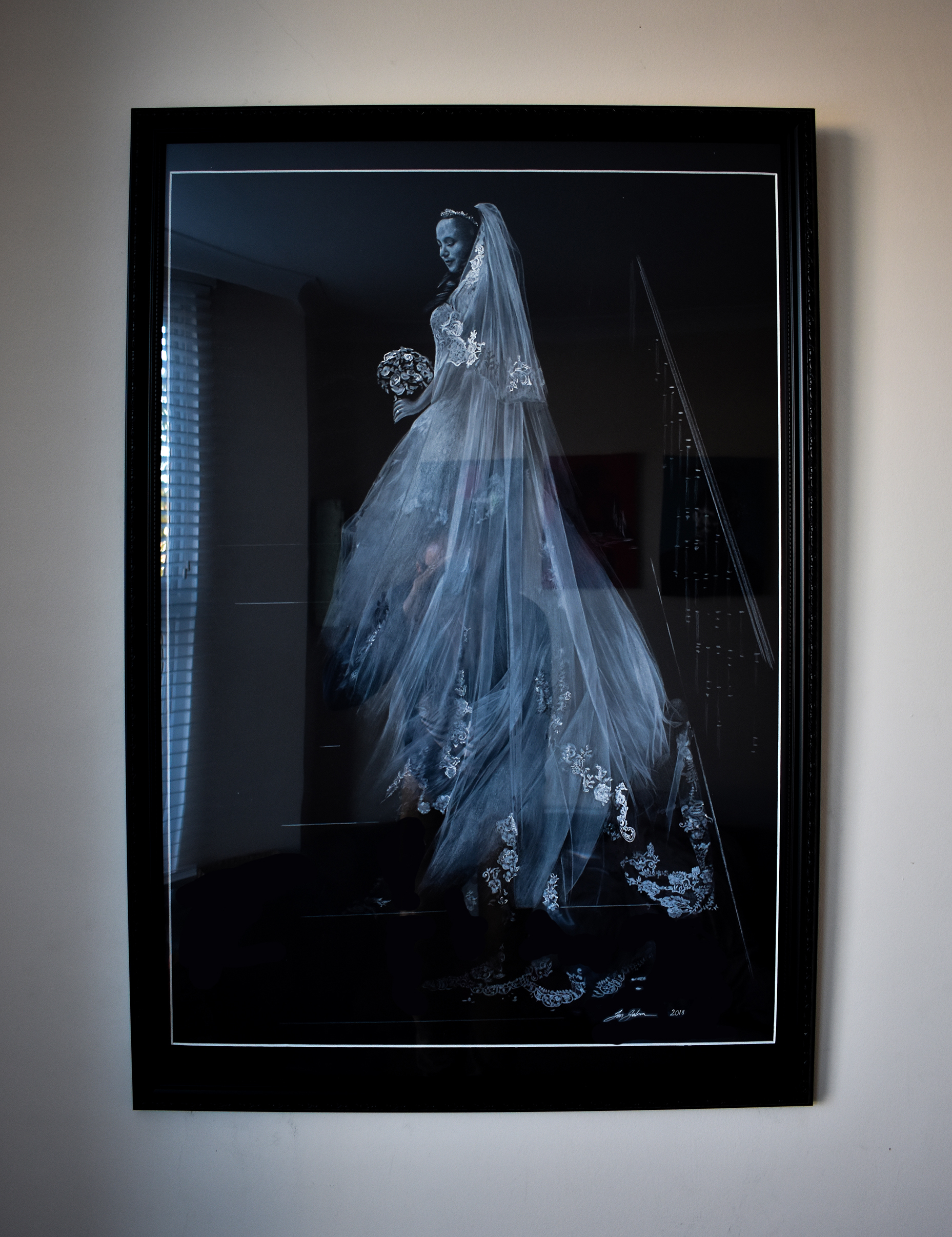 Stuart - Beautiful Bride - 03/02/19Masterpiece!. Unbelievable talent. The detail, feel and execution of the finished work is second to none. It brings tears of joy to our eyes every time we look at it, and Ian has managed to capture the very essence our daughter's great day. Thank you Ian.