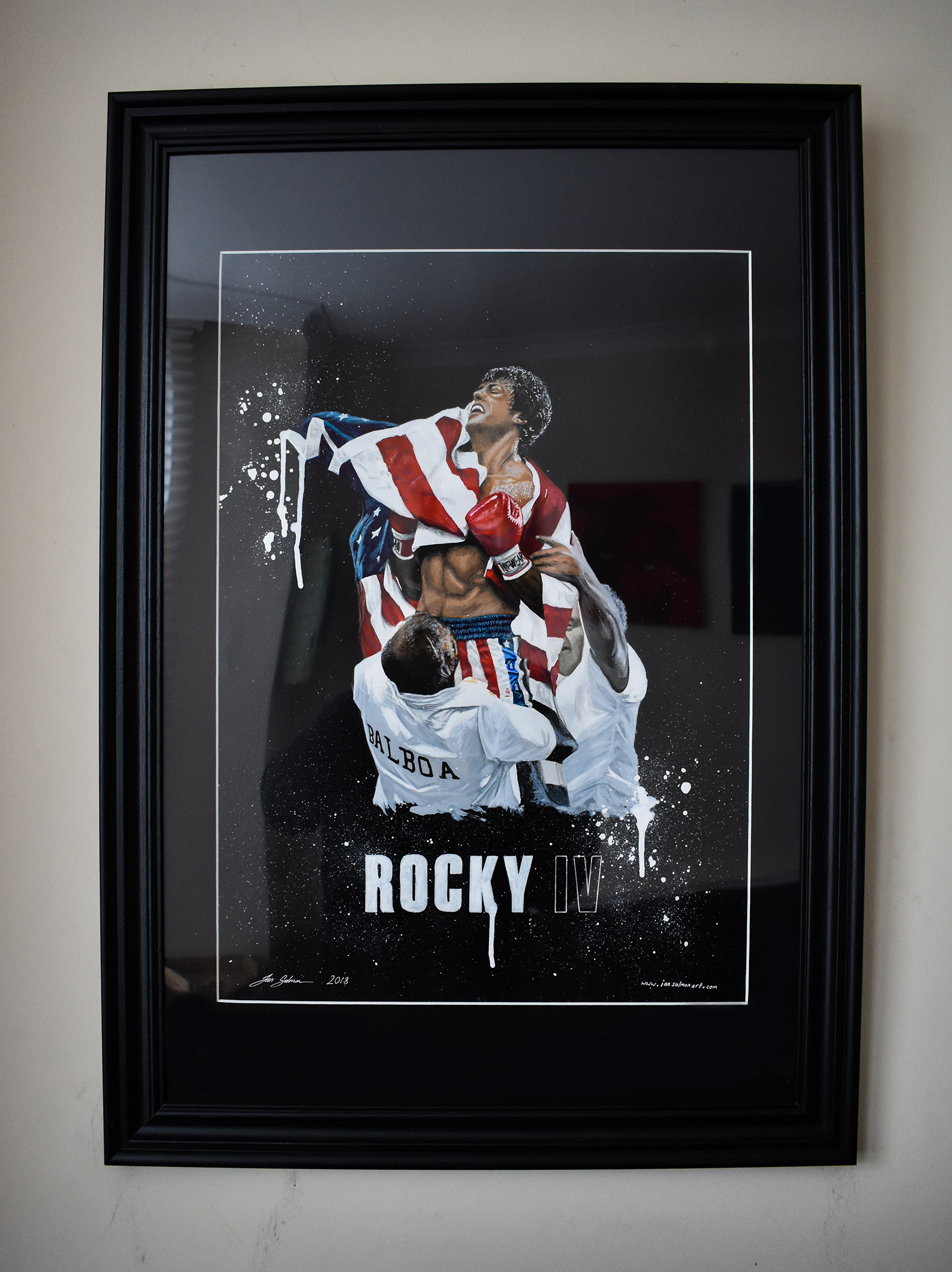 Rocky 4 Ian Salmon Pop Art Painting framed 1.jpg