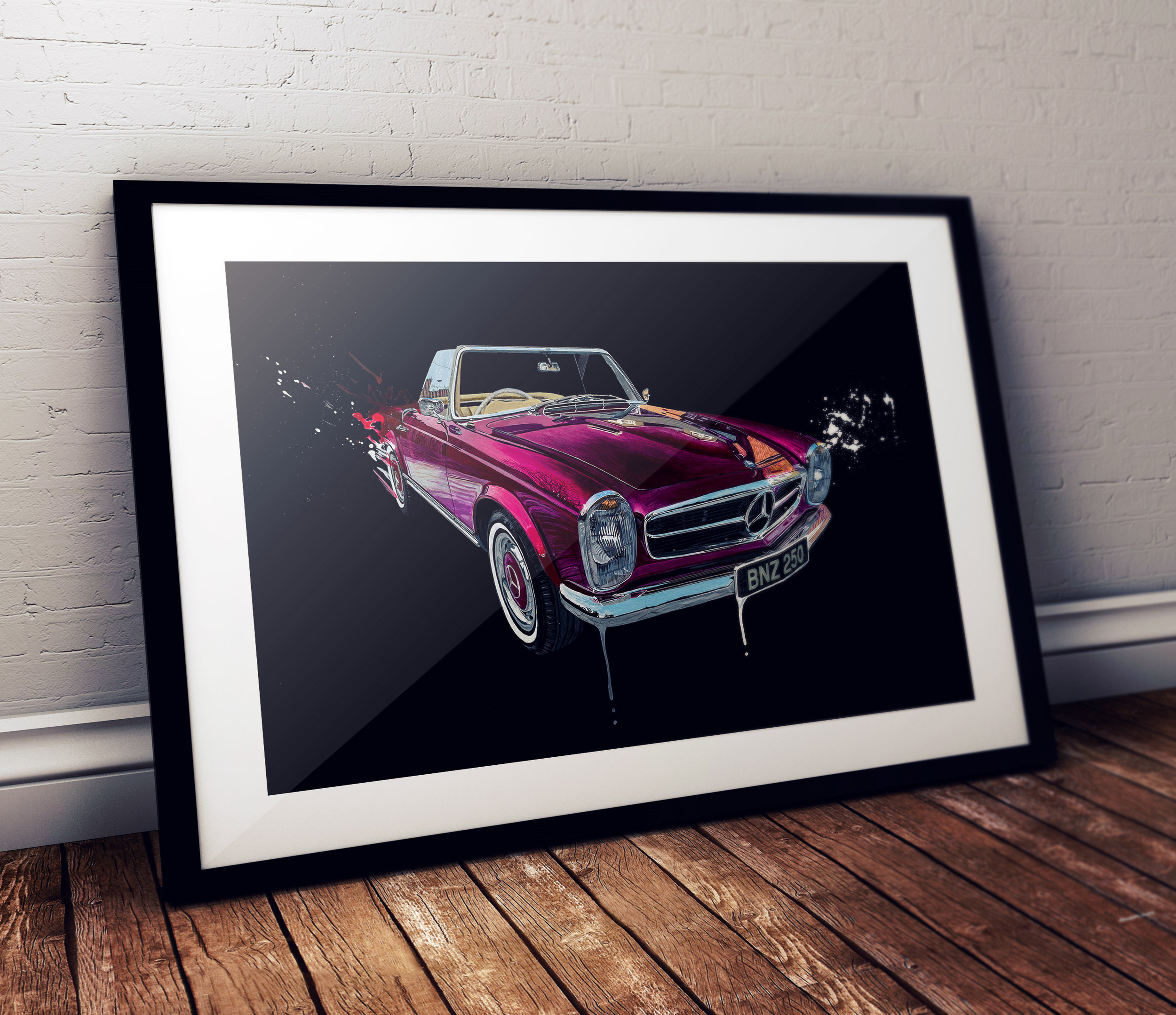 Mercedes 250SL Pagoda Painting - Ian Salmon Art Mock 1.jpg
