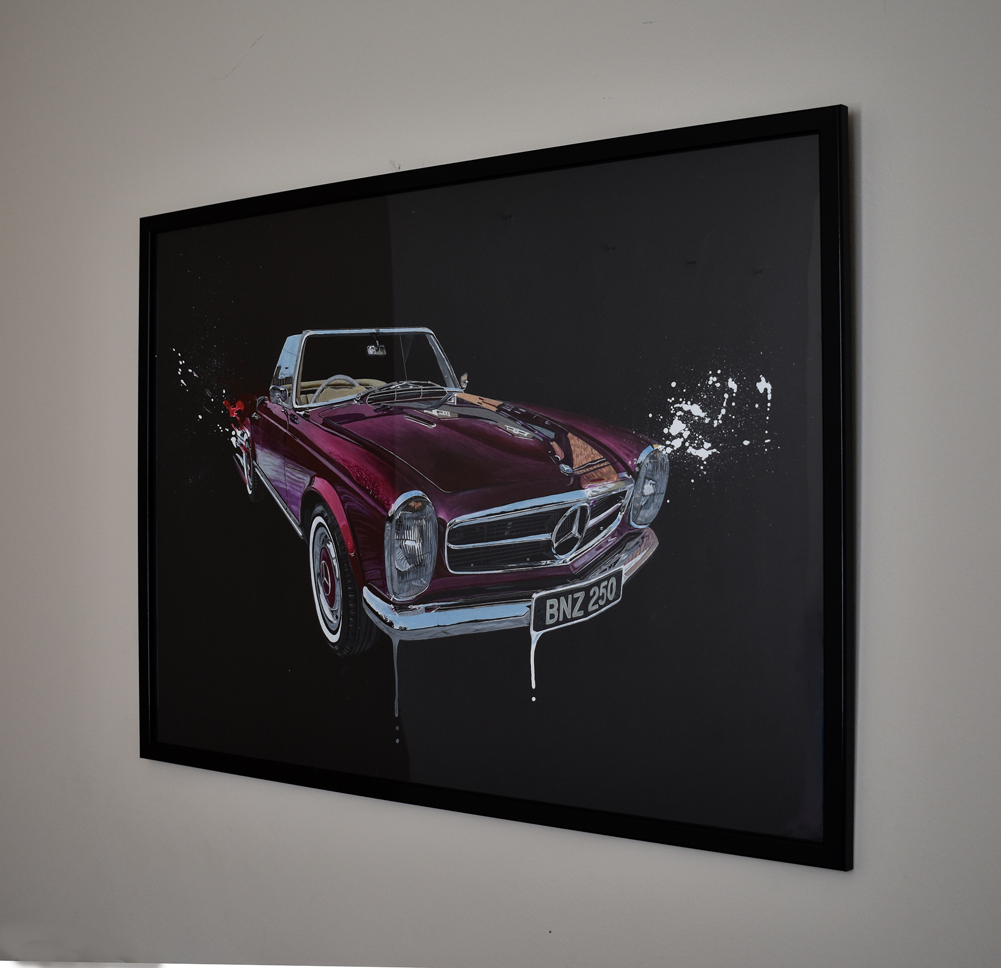 Mercedes 250SL Pagoda Painting - Ian Salmon Art framed 11.jpg