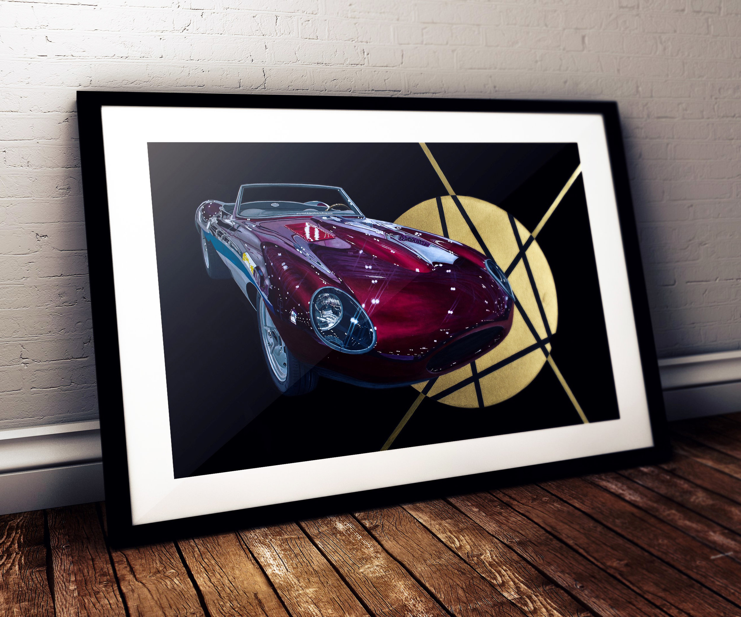 Jaguar E-type Speedster Painting - Ian Salmon Art - Mockup 1 (3)