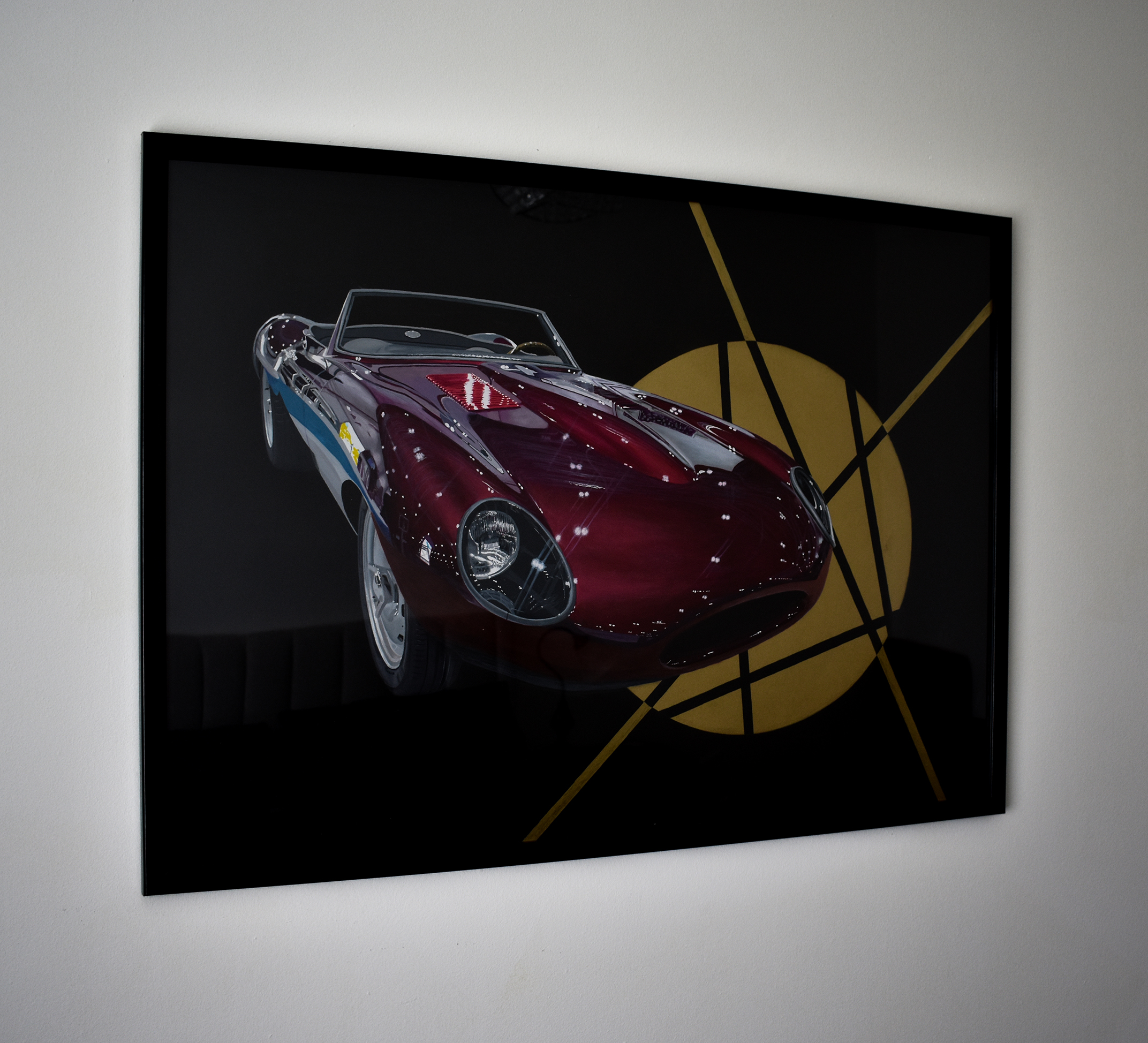 Jaguar E-type Speedster Painting - Ian Salmon Art - Framed 4.jpg