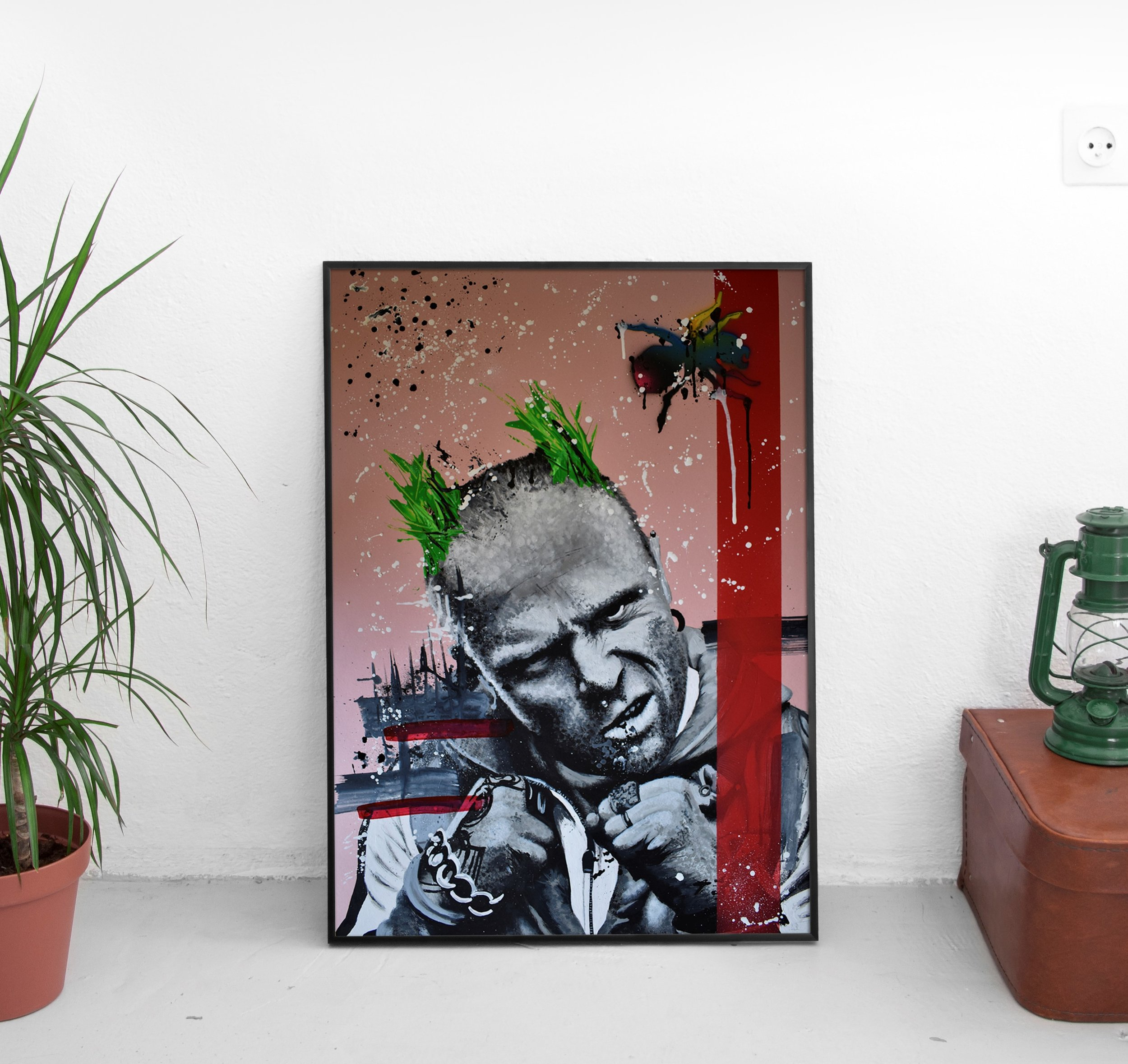 Keith Flint Pop Art Portrait - Ian Salmon - Framed mock 6.jpg