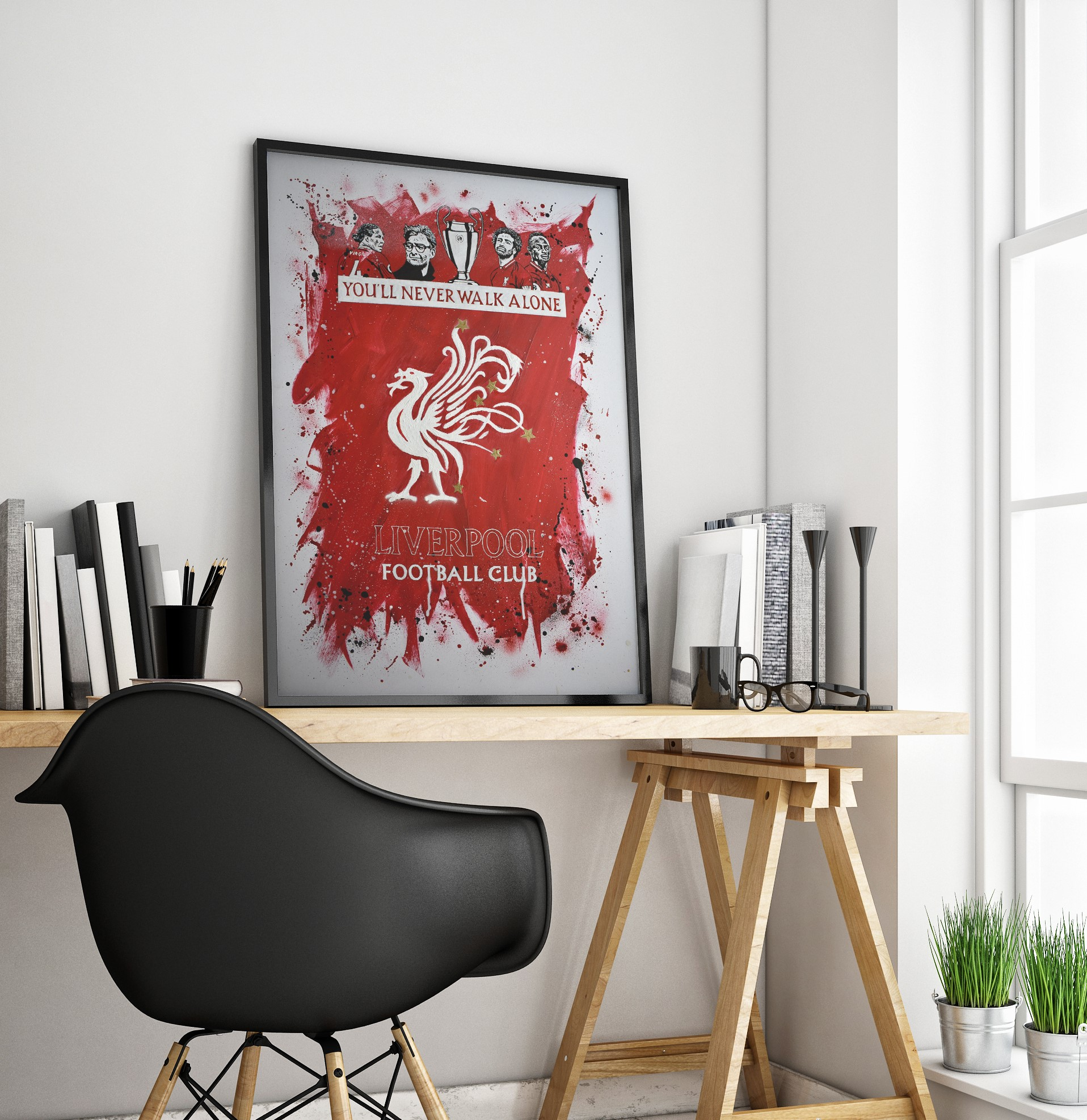 Liverpool FC - Champions League Winners - Ian Salmon Art - Painting - FRAMED - Mockup 5.jpg