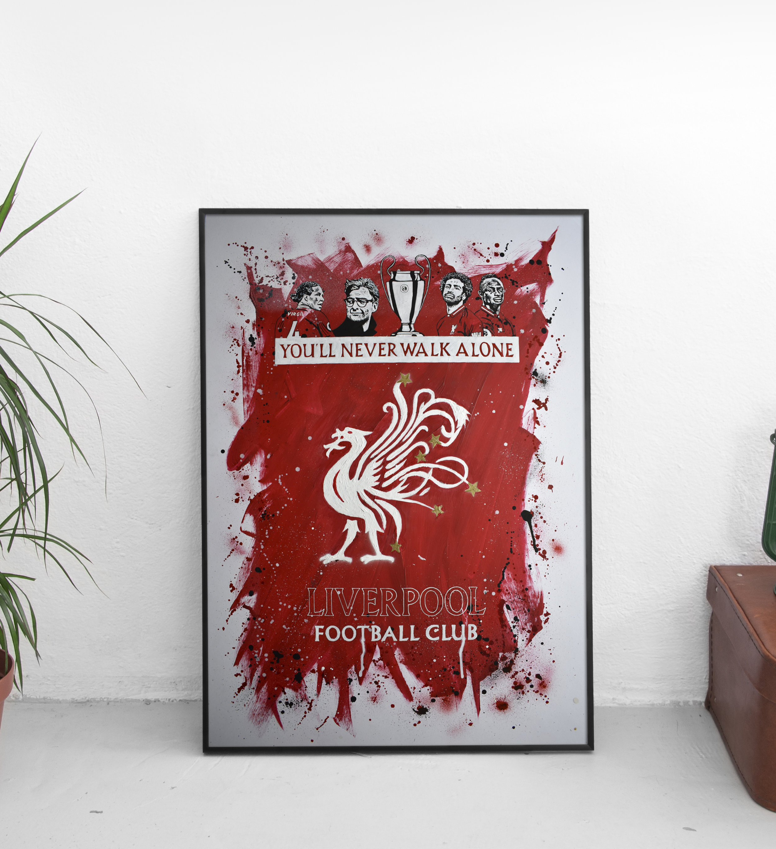 Liverpool FC - Champions League Winners - Ian Salmon Art - Painting - FRAMED - Mockup 4.jpg