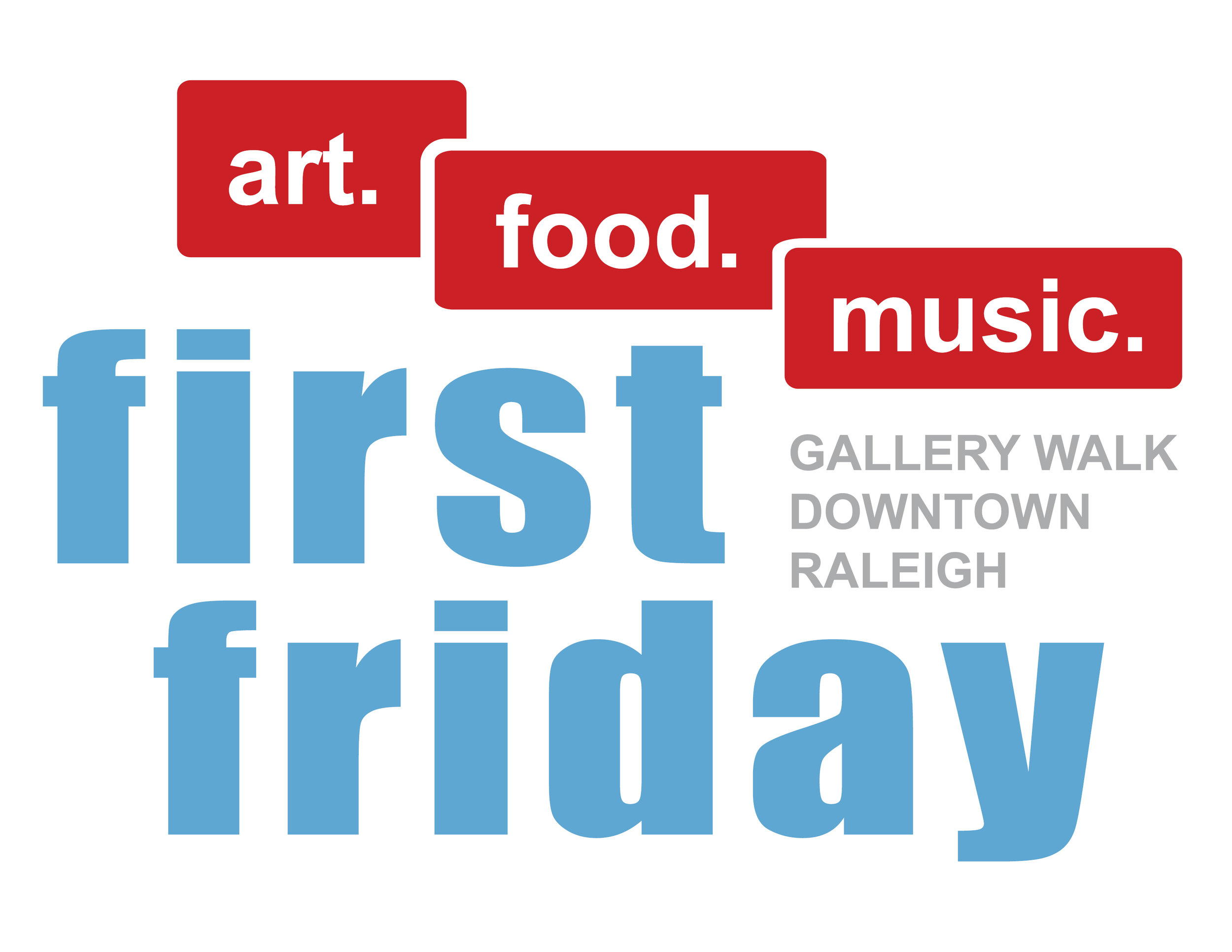 first friday art in downtown raleigh