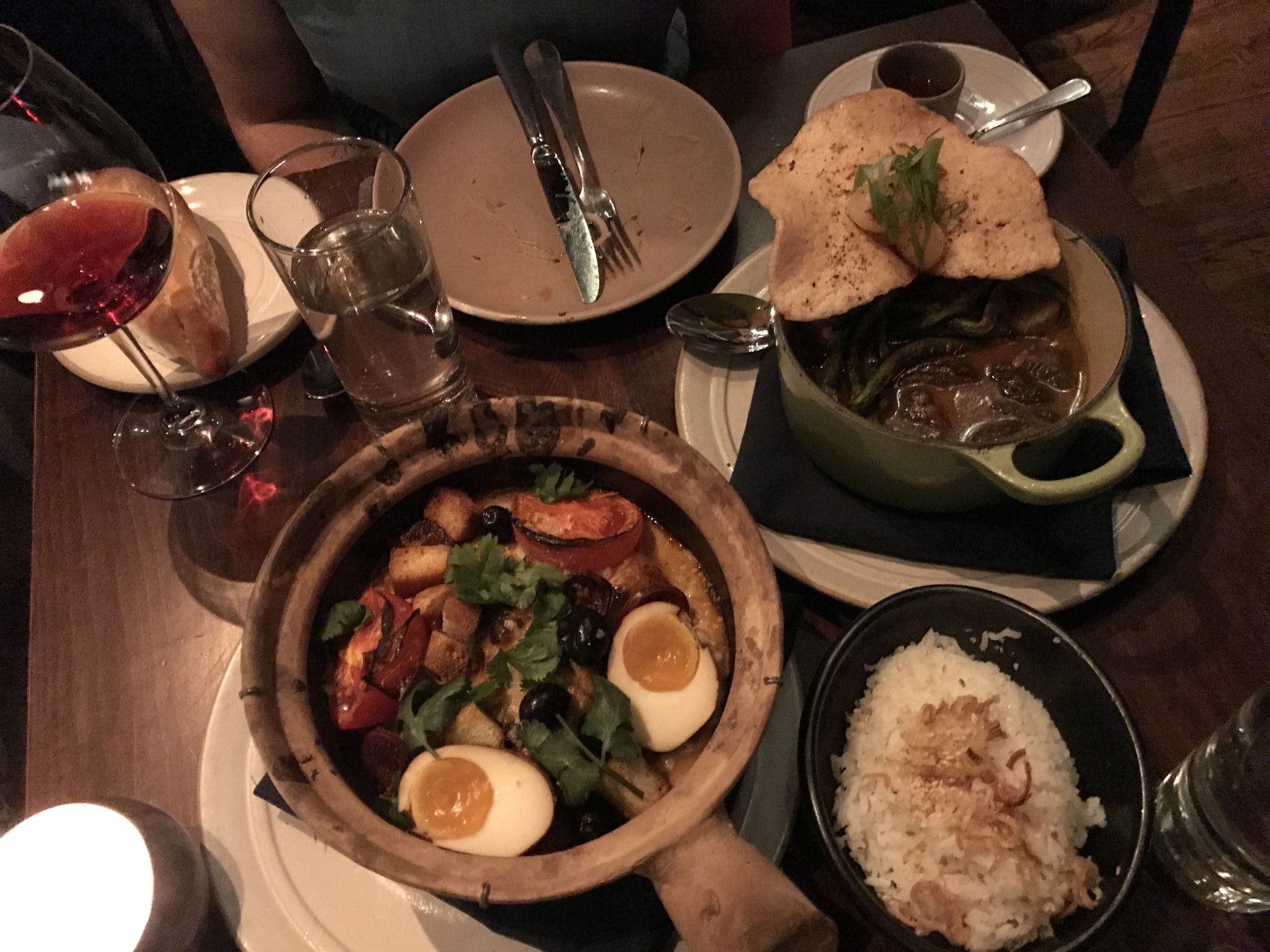 chicken thighs – chouriço – potato – tomato – hen egg – coconut curry – sao jorge – black olive (Macau)