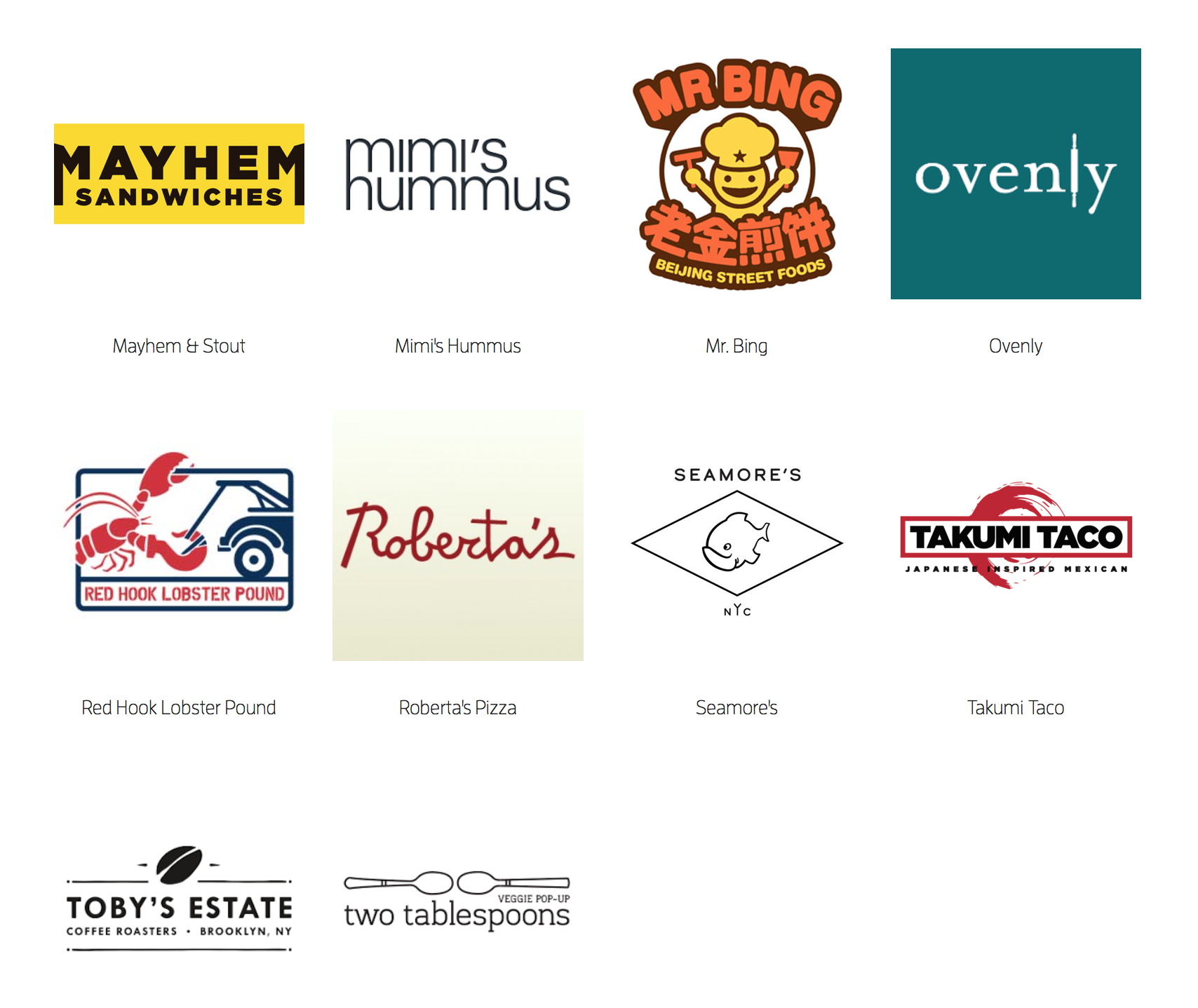 A selection of just some of the vendors…
