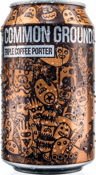 MAGIC ROCK COMMON GROUNDS Triple Coffee Porter (5.4%)  A full bodied and smooth coffee beer made in conjunction with local roaster Dark Woods. 7 malts combine with 7 different coffees at three different points in the brew!  €2.95