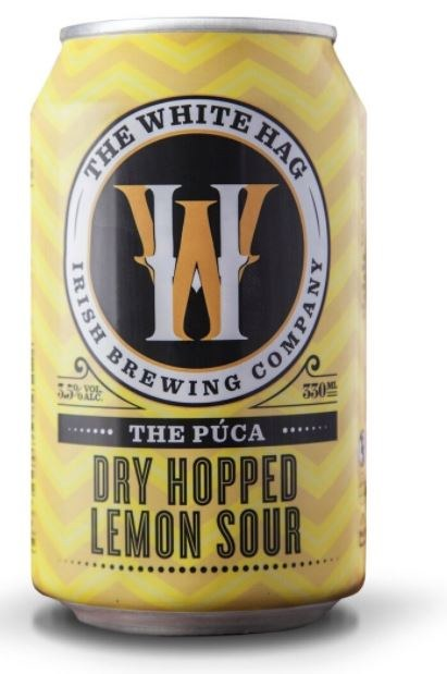 WHITE HAG BREWERY THE PUCA (3.6%ABV)  Kettle soured ale with added lemon peel and dry hopped.  €2.95