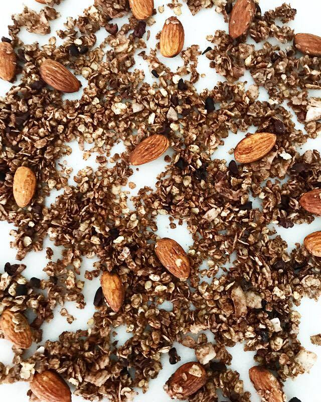 Pre-Workout Chocolate Granola