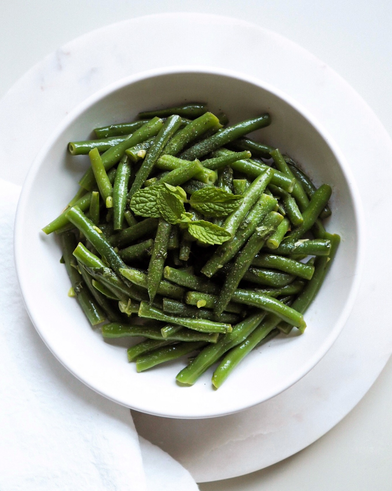 Minted Green Bean Salad - Kris Gill