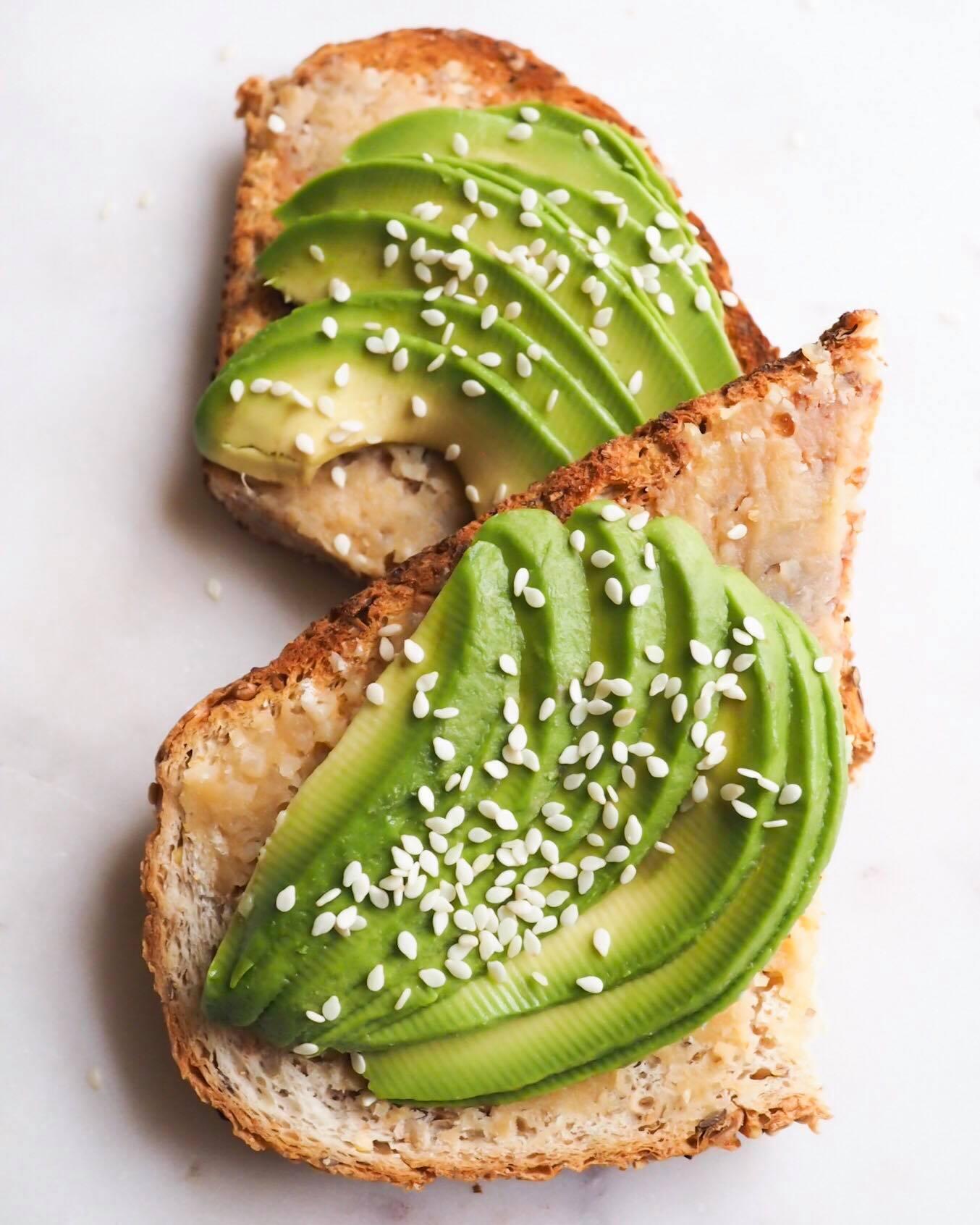 Miso Avocado Toast - Kris Gill