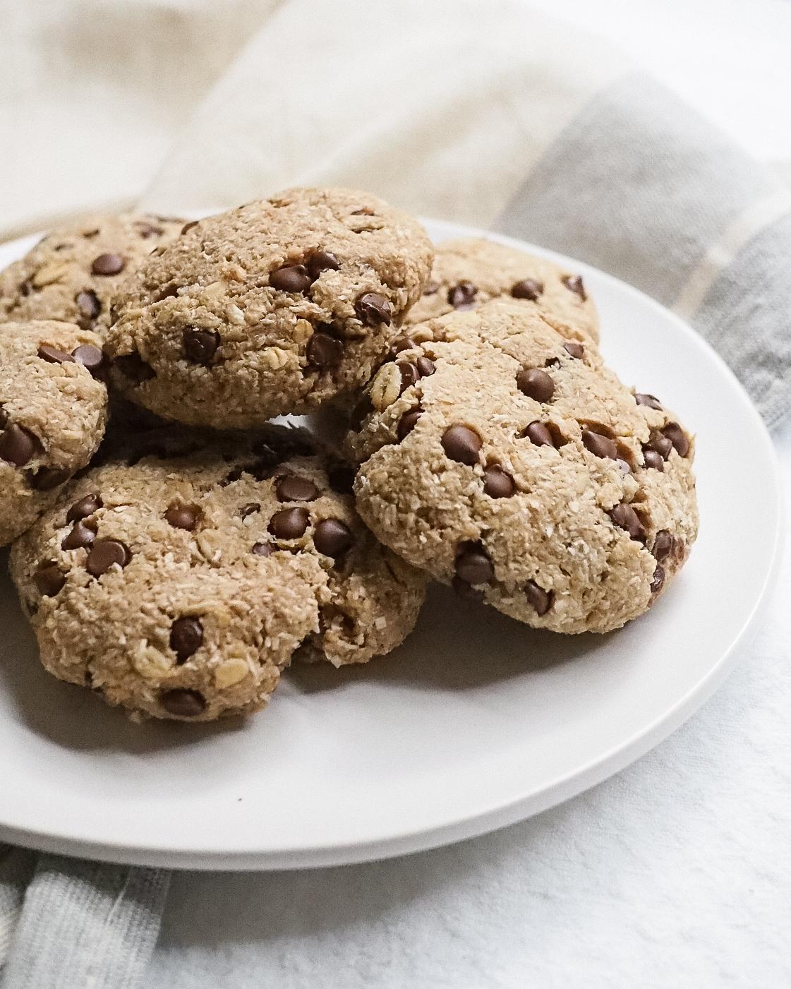 Vegan Banana Chocolate Chip Cookies - Kris Gill