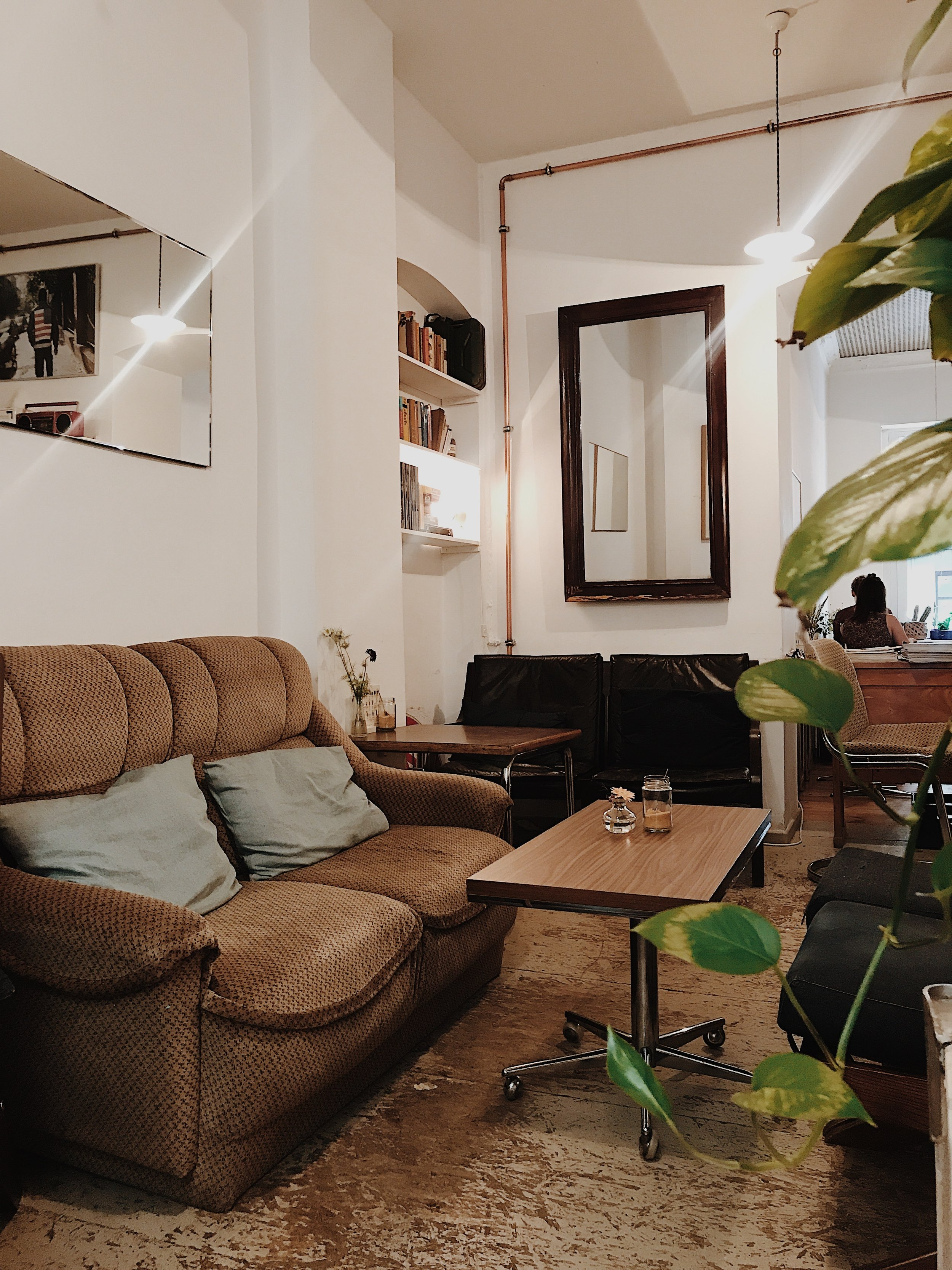Two and Two in Berlin:cozy, good wifi, decent coffee.