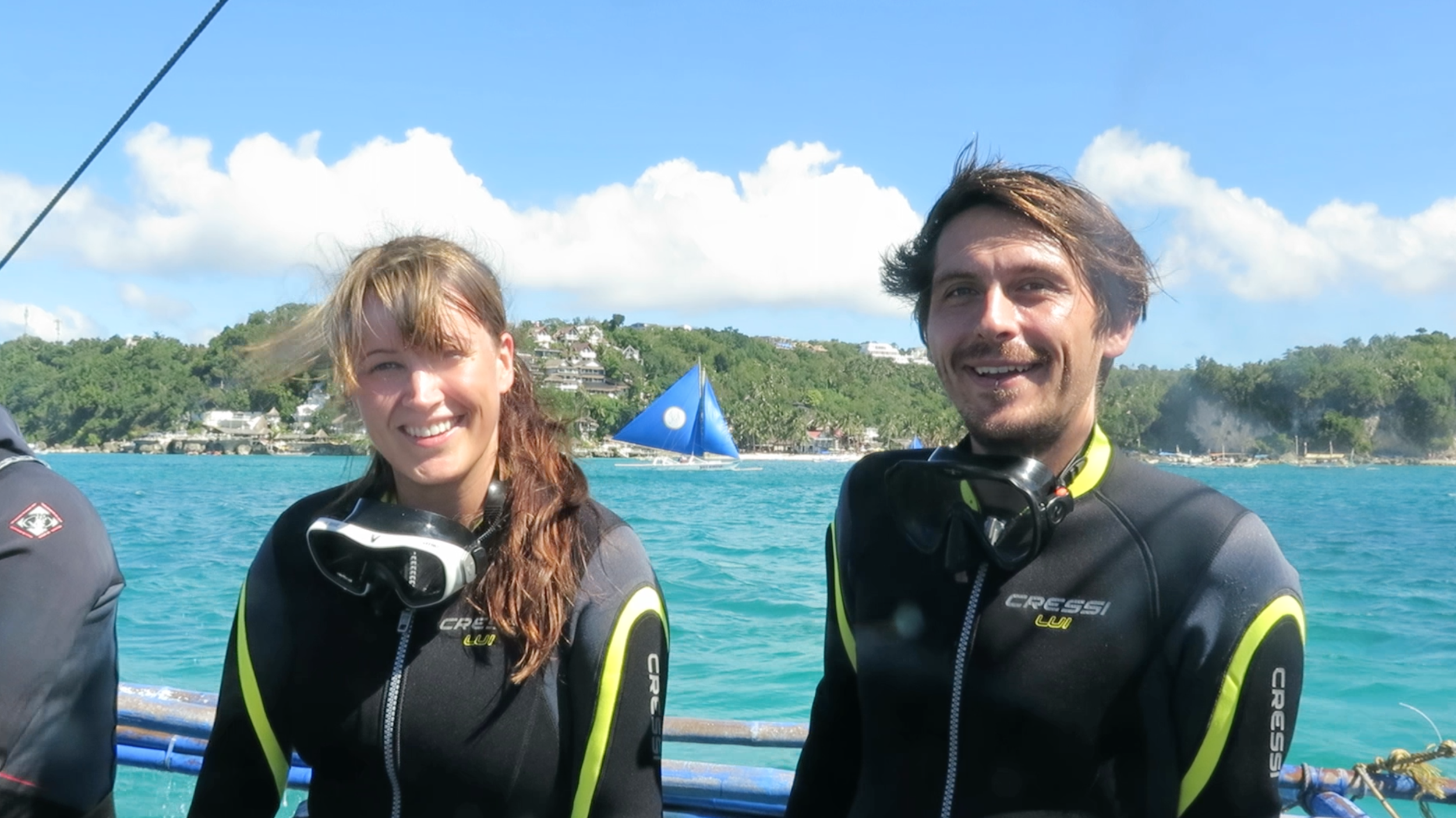 January 2016. Went scuba diving with the Philippines with Jeremiah, who I met three months earlier in Bali,here not yet suspecting how insane our dive master was. In September he's finally coming to visit in Berlin!