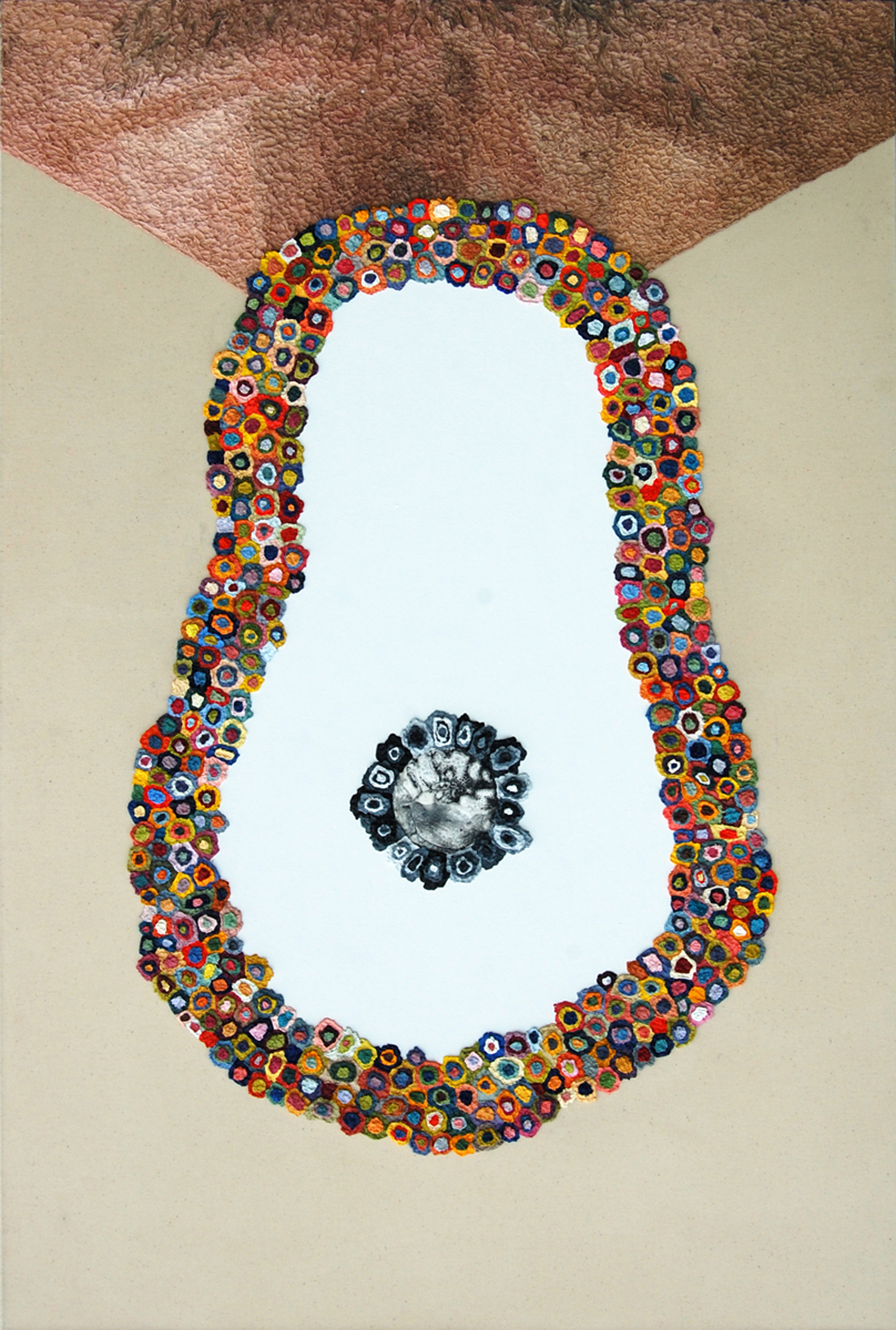 AP XV (The Discovery of Up and Down), 2010  |  48 x 32 inches  | oil, polyurethane and gouache on canvas