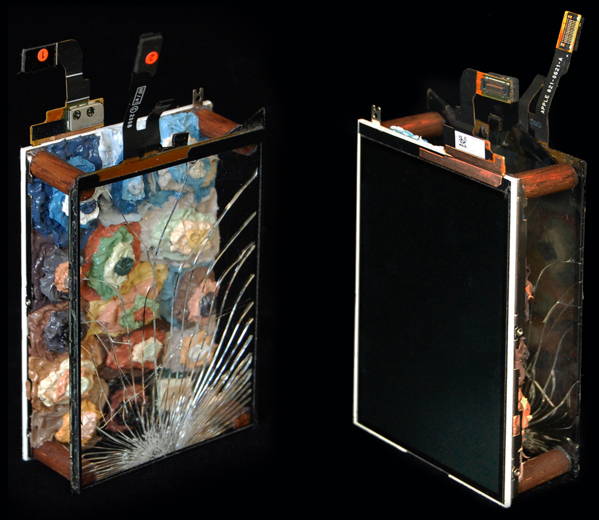 AP XVII (Portrait of Marcel Duchamp), 2011  |  4.5 x 2.25 x 1 inches  |  oil, wood, glass, lcd display and mixed media