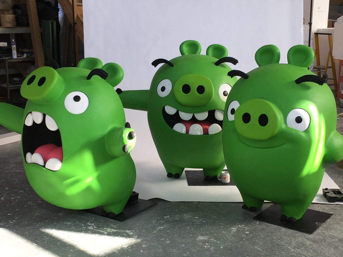 MODELS OF THE PIGS FROM THE ANGRY BIRDS MOVIE FOR XPOTEAM. Click on image for more.