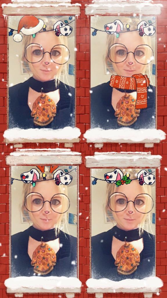 Emily from Nibbling looking very festive!