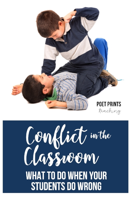 Conflict in the Classroom - a blog post by Poet Prints Teaching