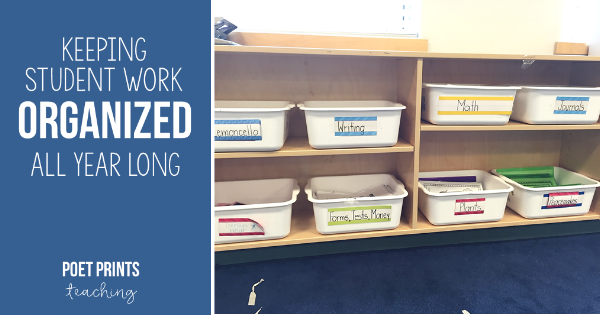 How to keep student work organized all year long! - Poet Prints Teaching
