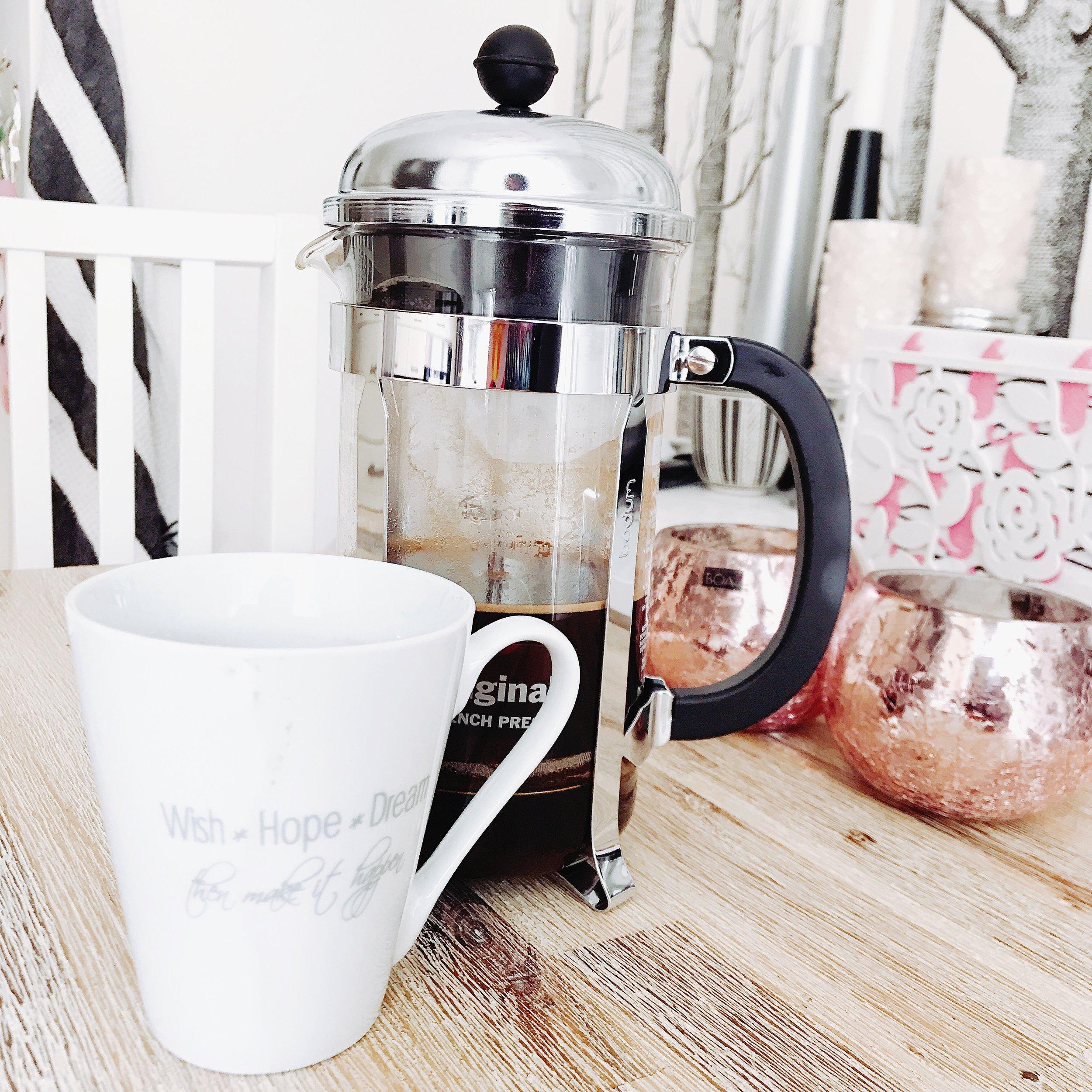 Tack mamma för den fina kaffepressen! Den är så bra. 😃