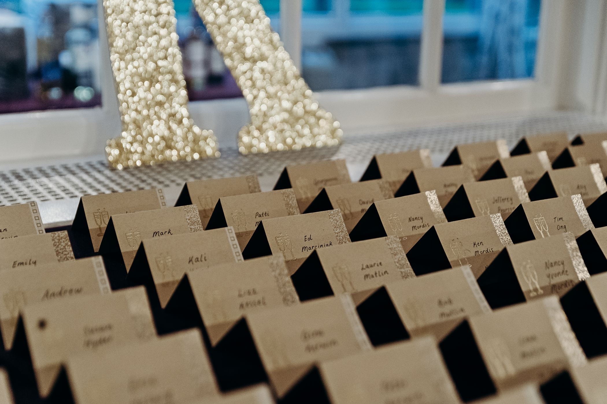 Wedding dinner place cards