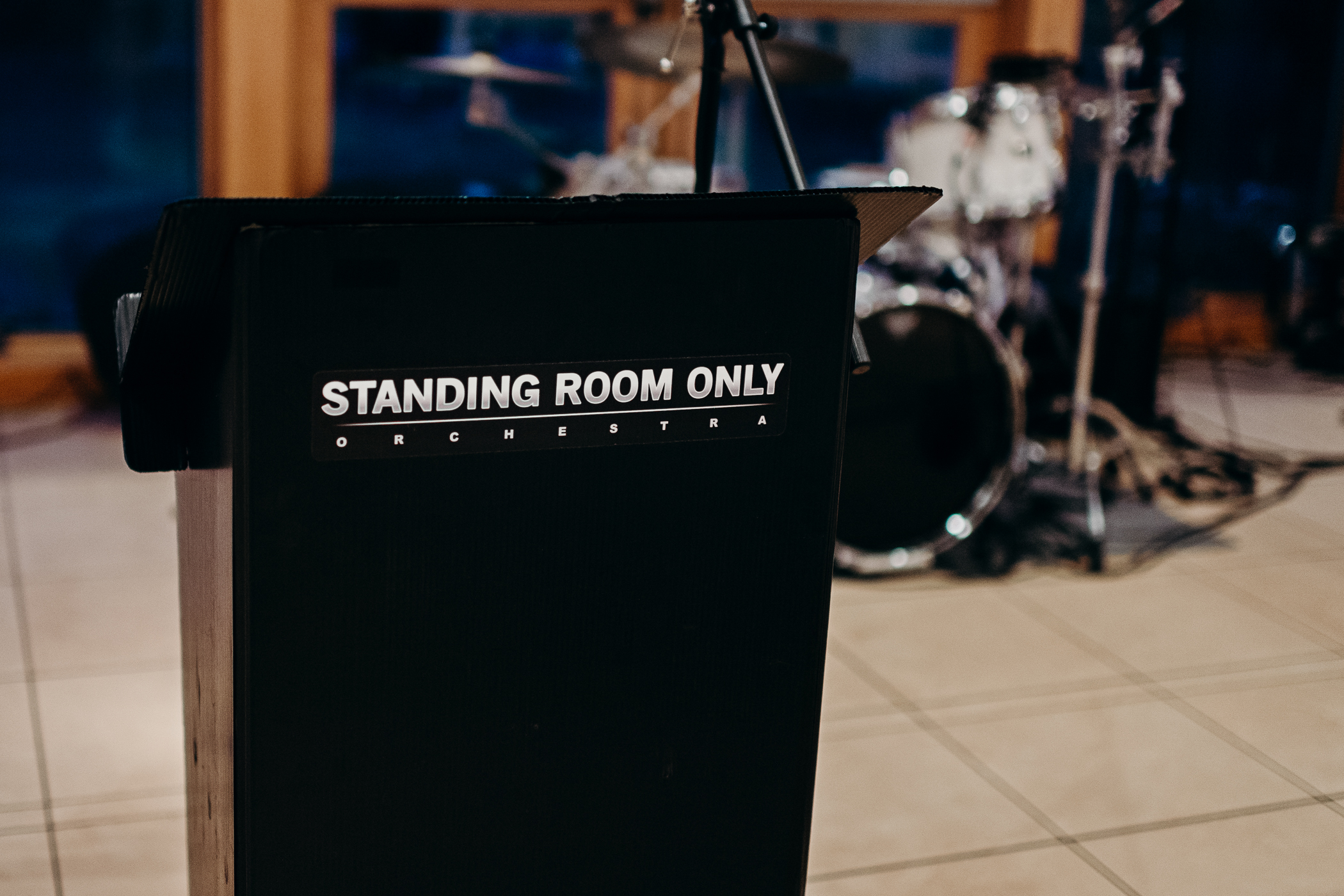 Podium for Standing Room Only Orchestra