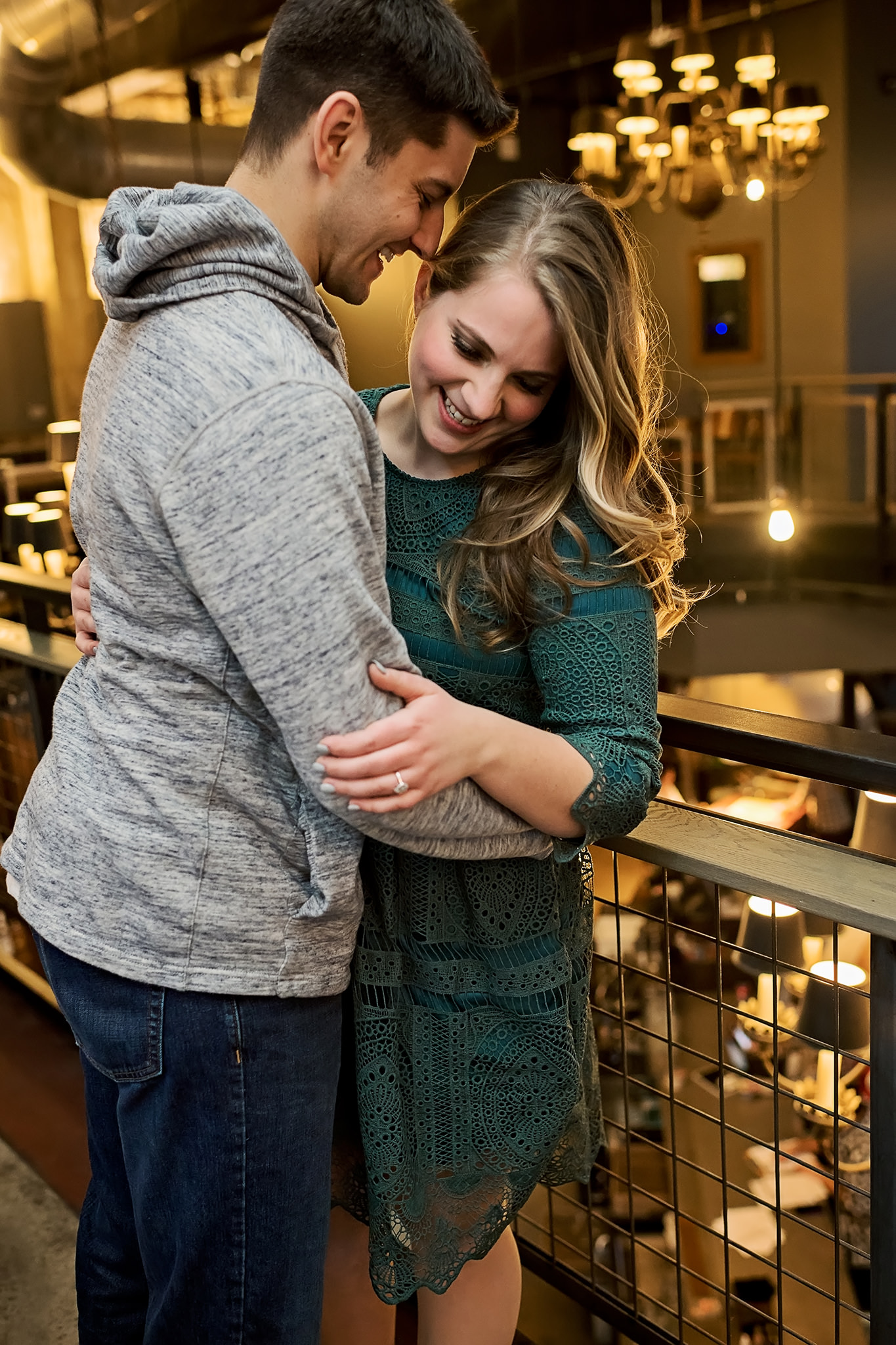Engaged couple at Lucille