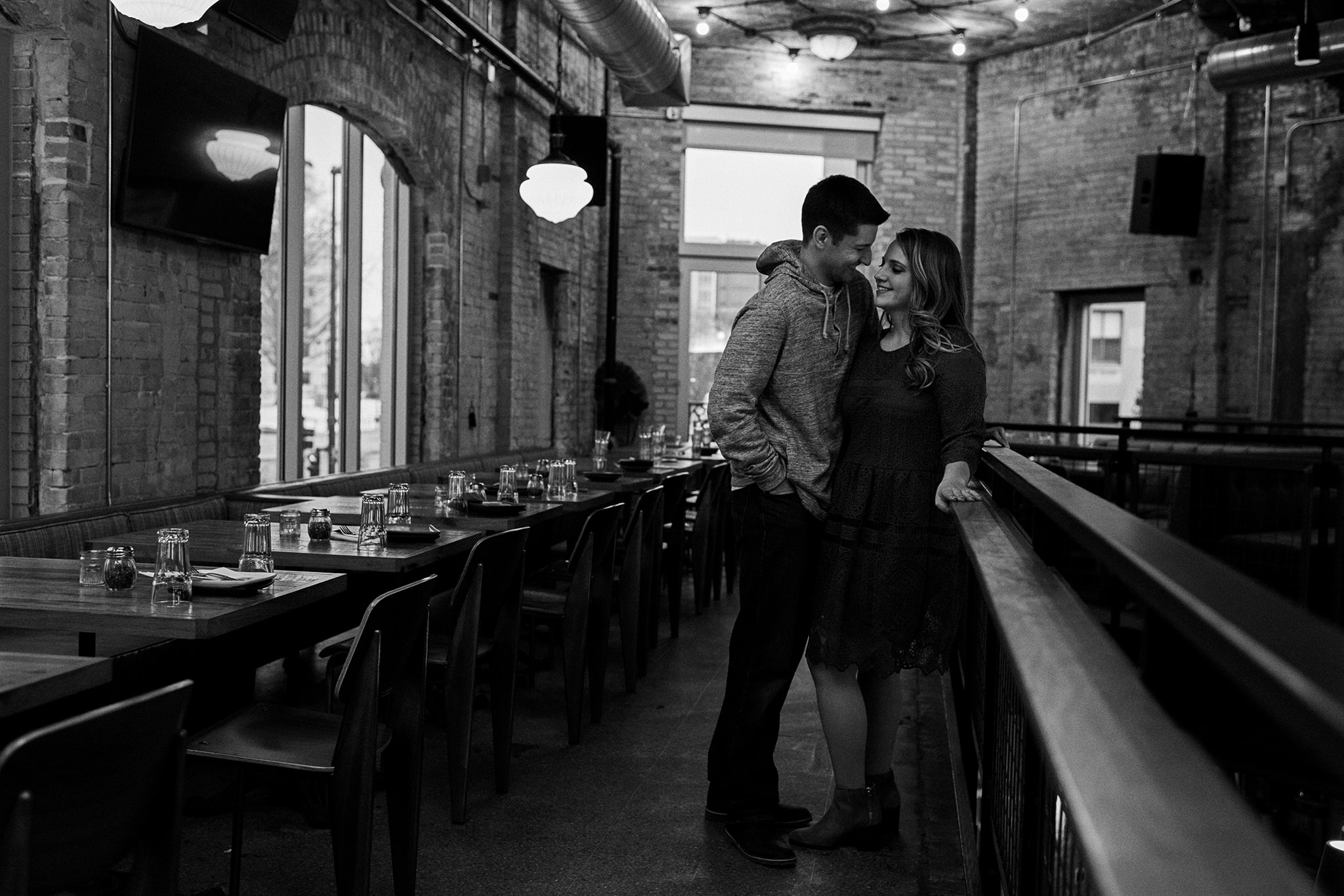 Couple at Lucille in downtown Madison