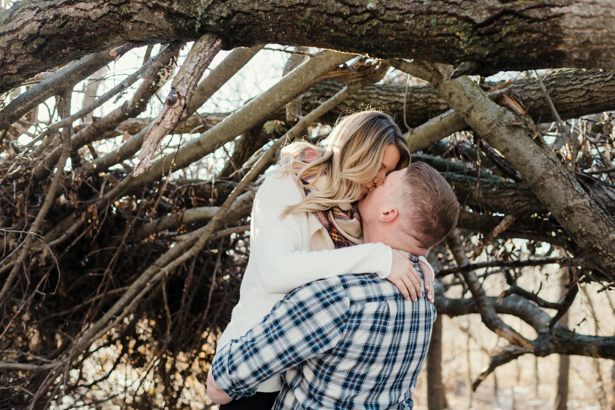 Man picks his fiancé up