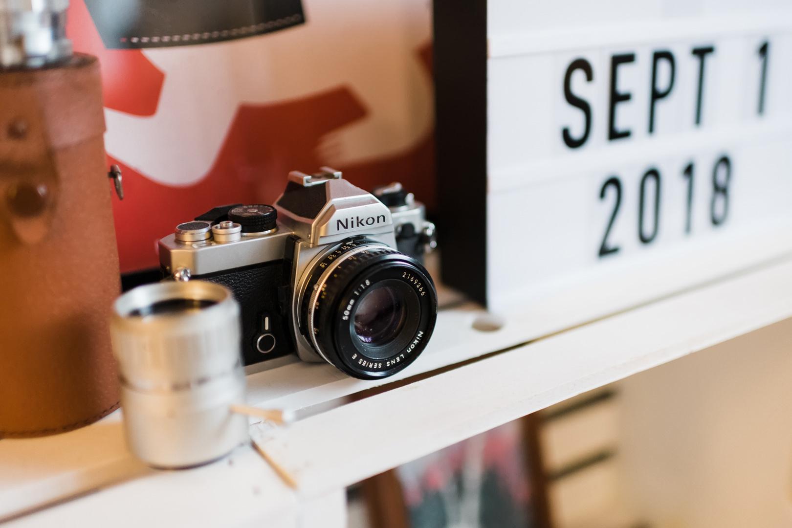 Vintage Nikon film camera