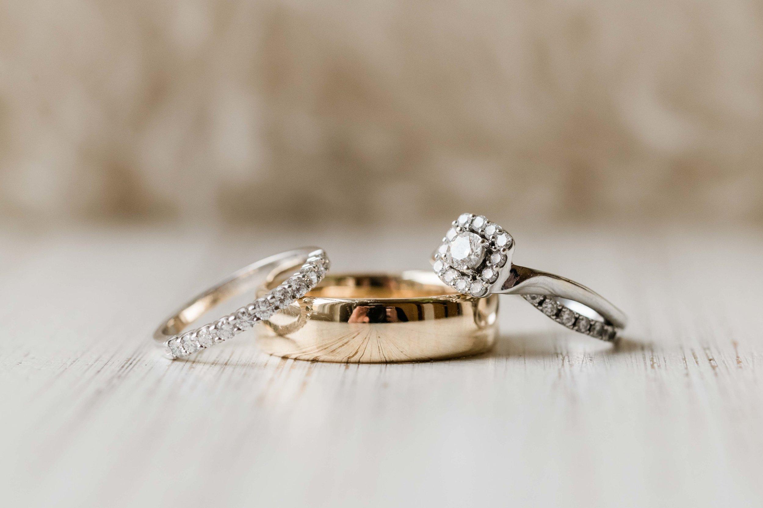 Set of 3 wedding rings