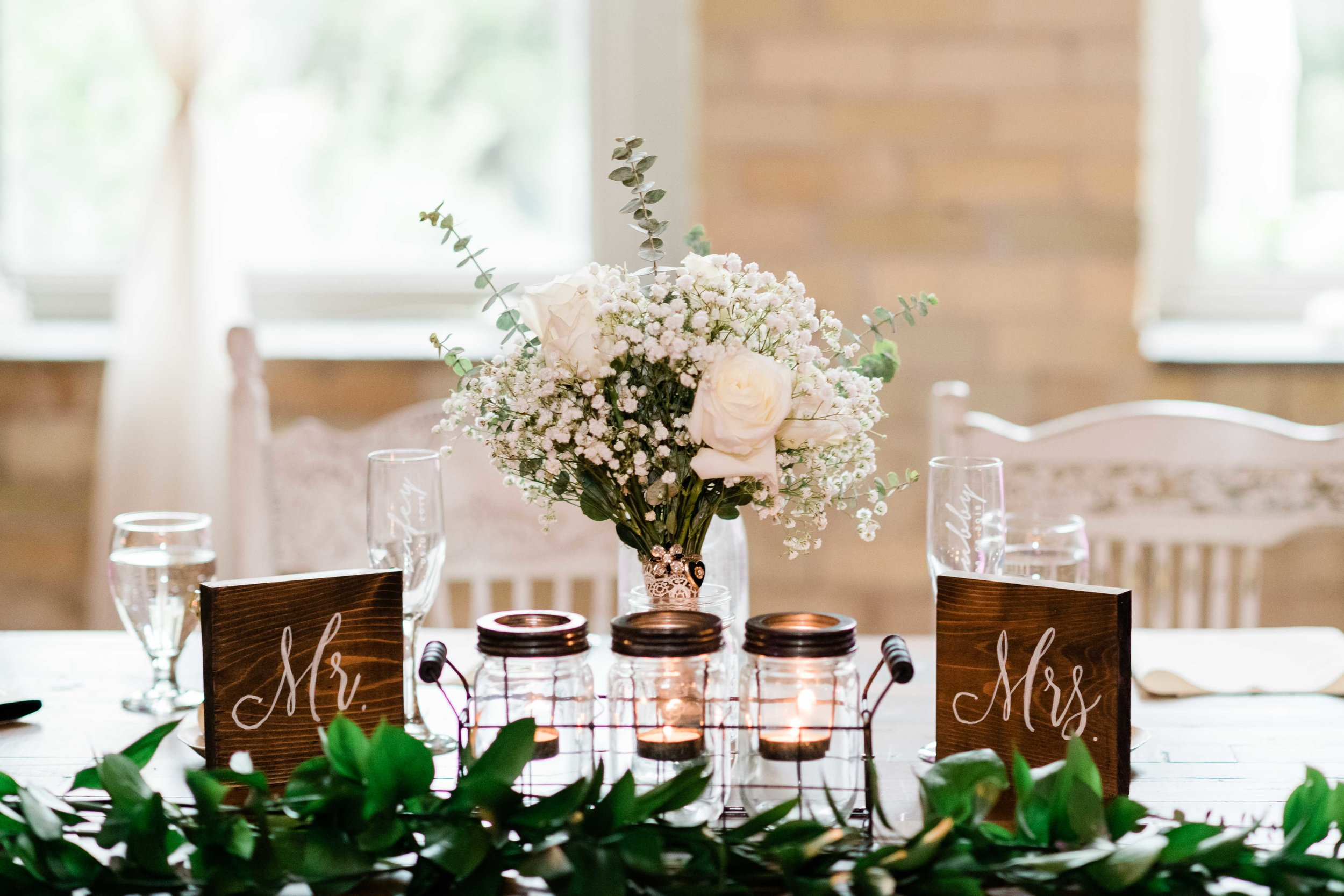 Sweetheart table decor