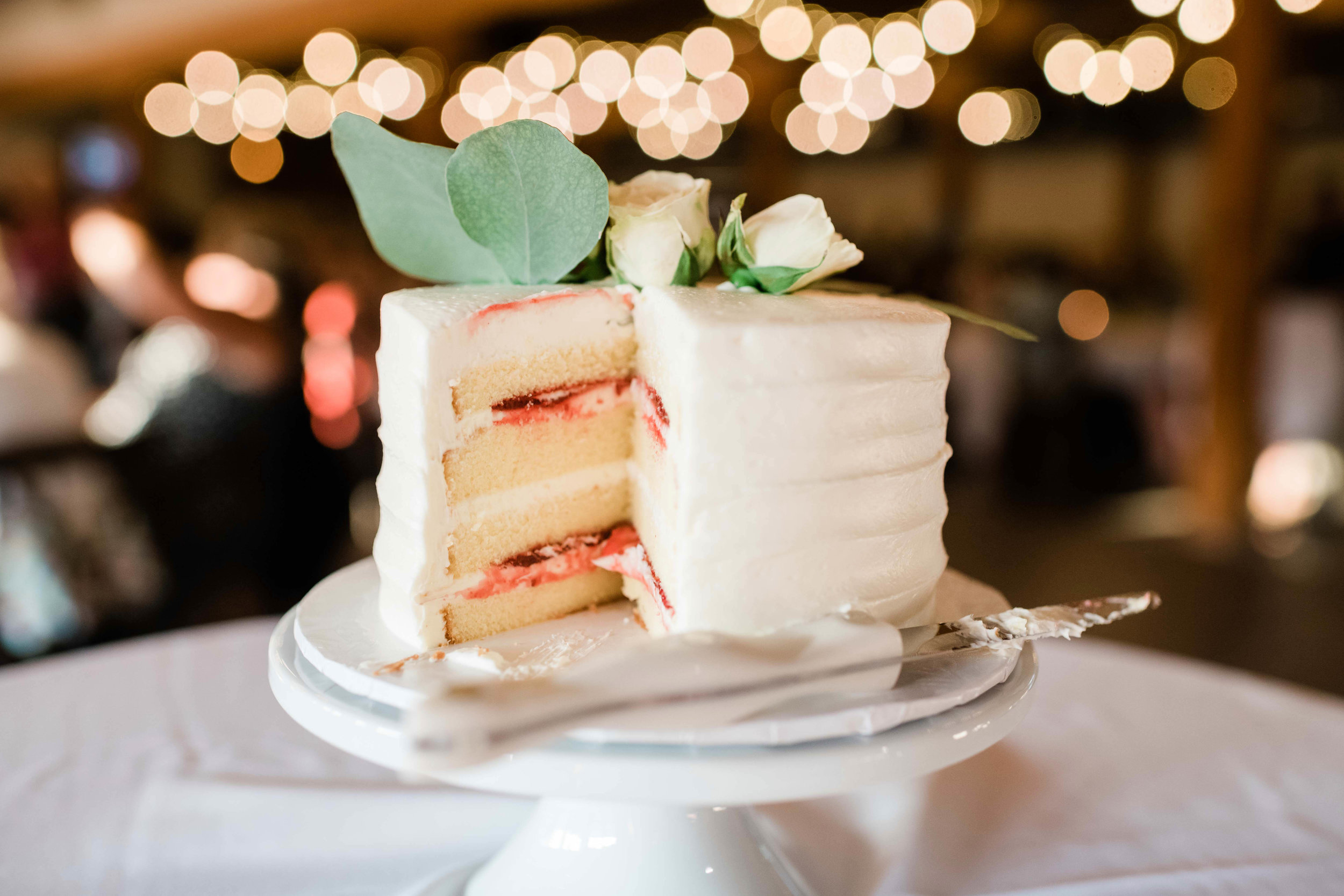 Jelly filled wedding cake