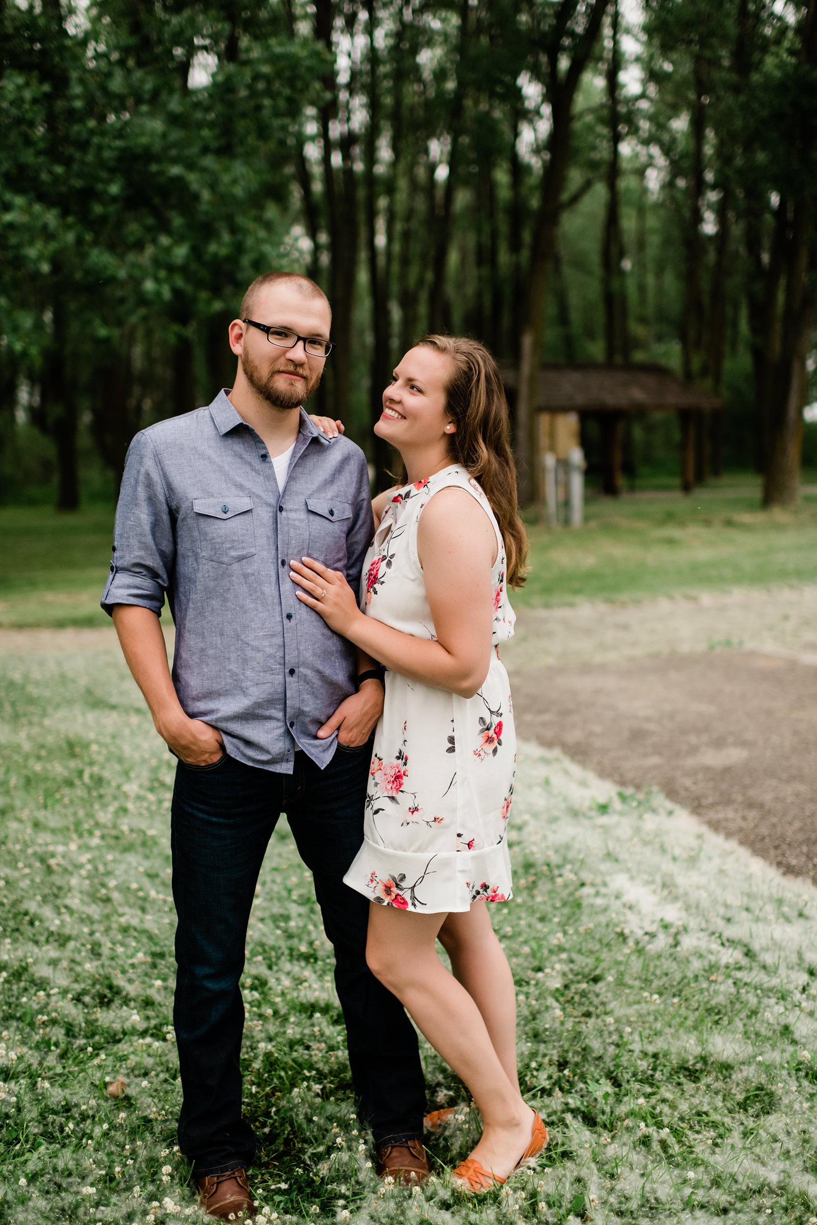 Woman admiring her fiancé