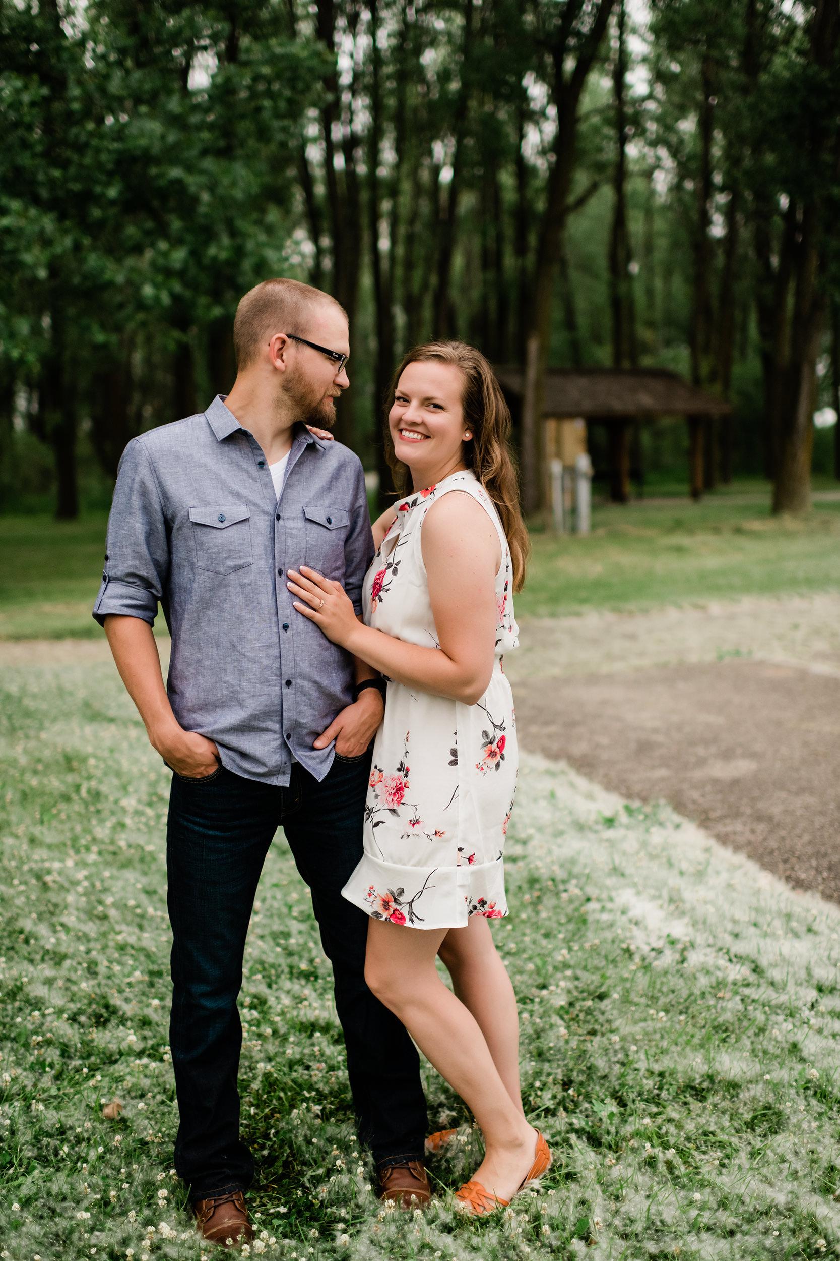 Man admiring his fiancé