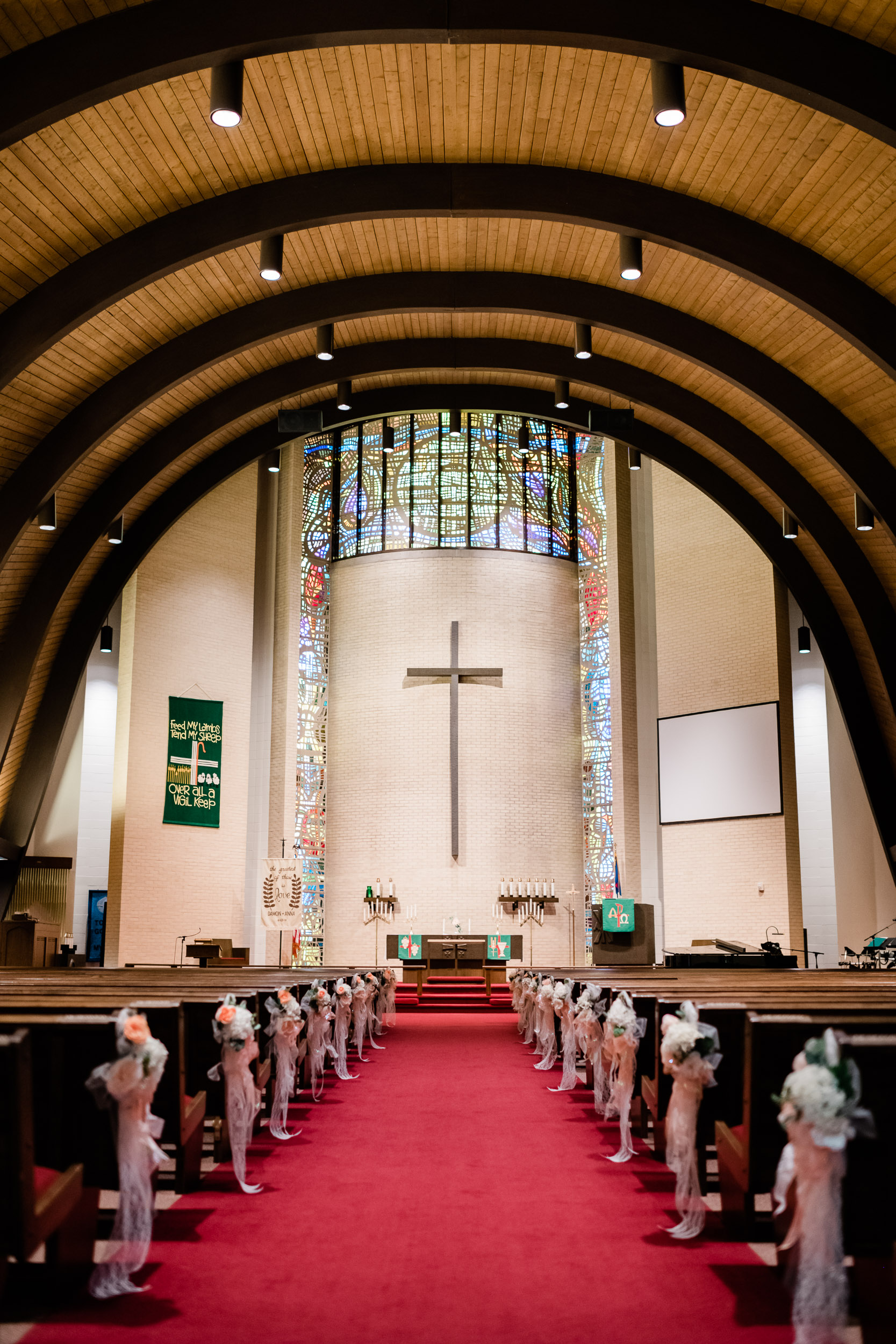 Inside of Christ Lutheran Church in Marshfield, WI
