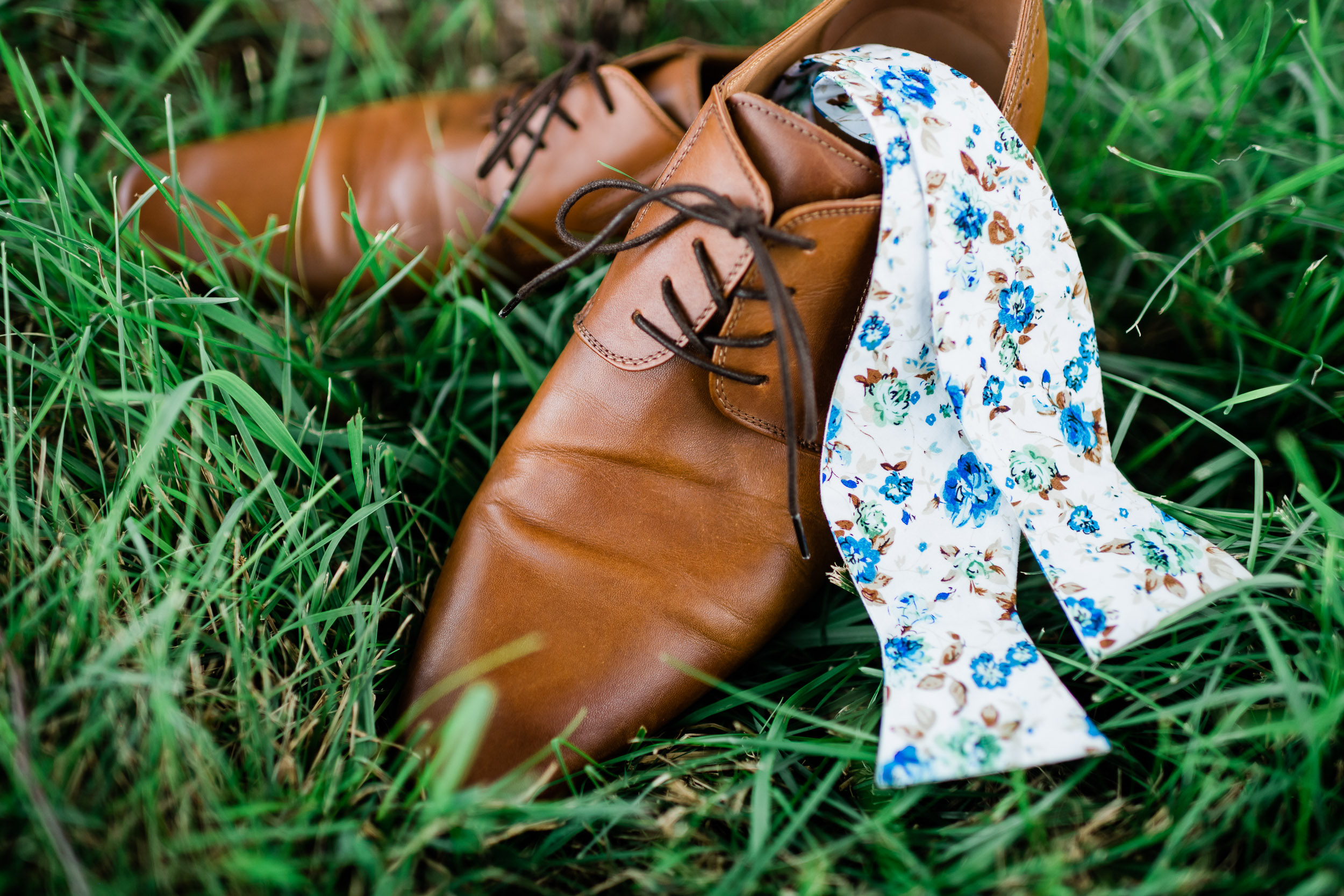 Groom's shoes and bowtie