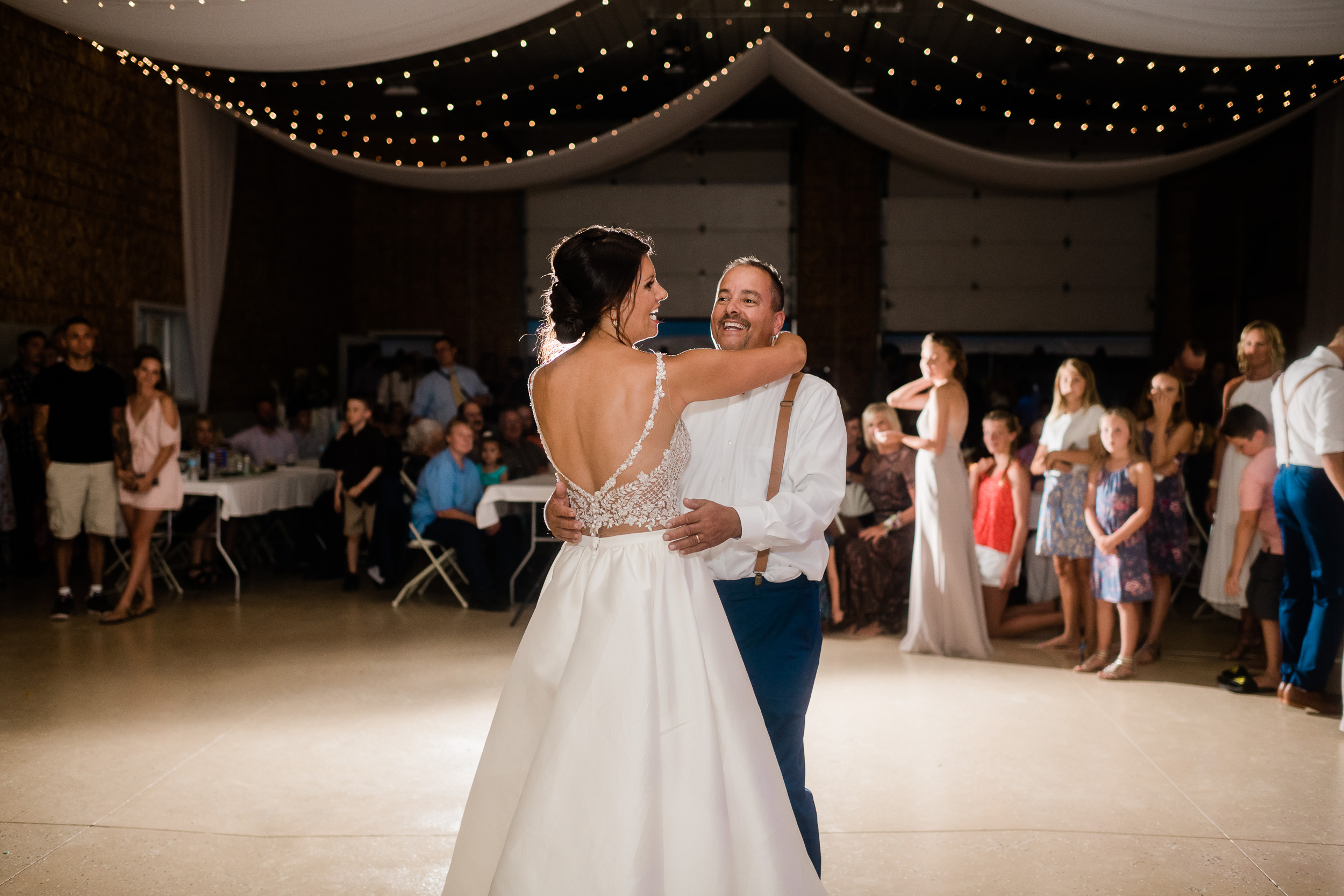Bride and father of the bride first dance