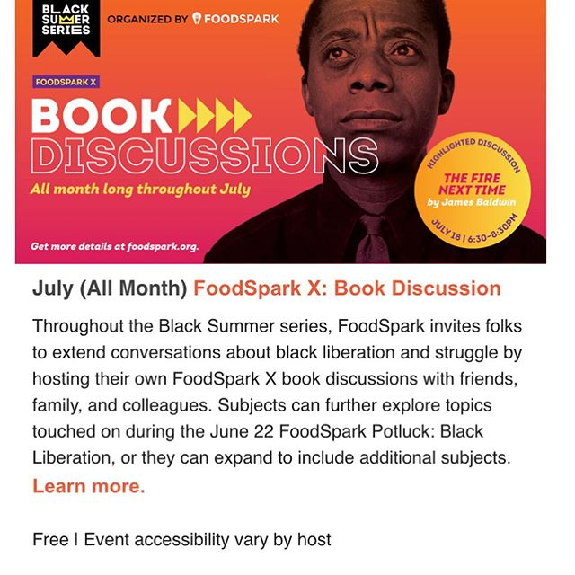 As we gear up to kick off our Black Summer series next weekend, we write to share with you some great readings and music playlists that are inspiring our team. Check out the growing list at FoodSpark.org, and of course, join us Saturday, June 22 (1-3pm) for our Barbecue Cookout potluck discussion to kick off the series.