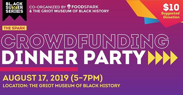 It's De (@de_nichols), and I am writing with bittersweet excitement as I welcome you to join us for our upcoming FoodSpark event, The Spark: Black Summer, on August 17 (5:00-7:00pm) at The Griot Museum of Black History (@thegriotmuseum). In many ways, this gathering will close a powerful chapter of our FoodSpark journey. In three weeks, I am leaving St. Louis for a year as I begin the Loeb Fellowship at Harvard University. Co-organizer, Sophie Lipman (@sophtheloaf12), will also be departing St. Louis as she embarks a new chapter in her career, including the Pocoapoco residency in Oaxaca.  With these exciting transitions for our team, we want you to help us make this gathering special. So, get your tickets, invite your friends, encourage people to share their ideas for funding, and raise a glass to sparking new beginnings.  We will see you on August 17 for #thefinalspark.