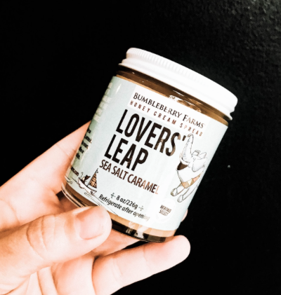 Lovers Leap Honey SpreadSea Salt Caramel.  Made in the US.   Delicious.   -