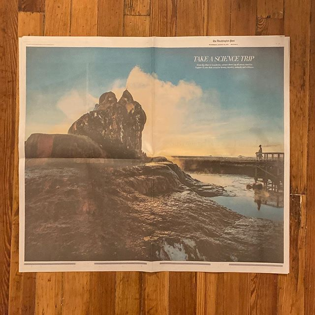 In today's paper: Science Trip, a 14-page special section exploring sites around the country that reveal the beauty, mystery, audacity and wildness of science.  Fantastic work from a great team of photographers, reporters, designers and editors. (Link in bio)