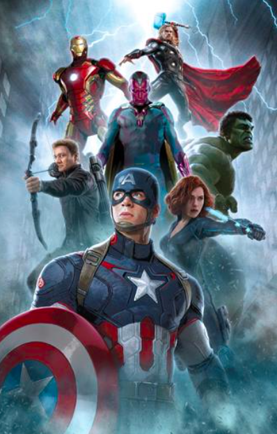 Avengers of Our Age   Giclee on Canvas  30 x 20 in.  Edition of 65  Signed by Stan Lee