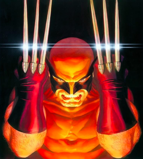 Visions: Wolverine   Alex Ross  Giclee on Canvas  21.5 x 17 in.  Edition of 100  Signed by Alex Ross