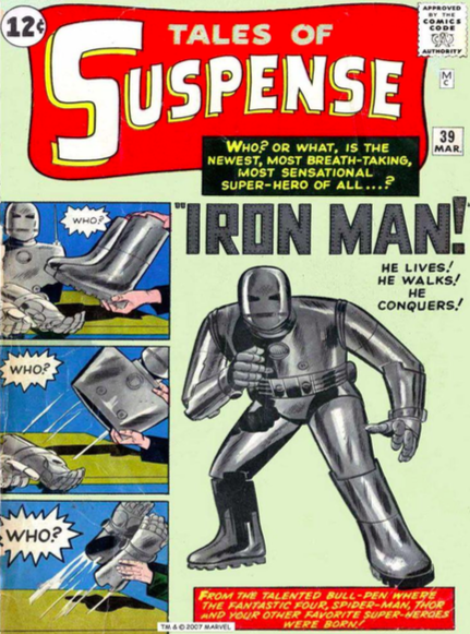 Jack Kirby & Steve Ditko   Origins: Iron Man Tales of Suspense #39   GIclee on Canvas  30 x 20 in.  Edition of 50  Signed by Stan Lee